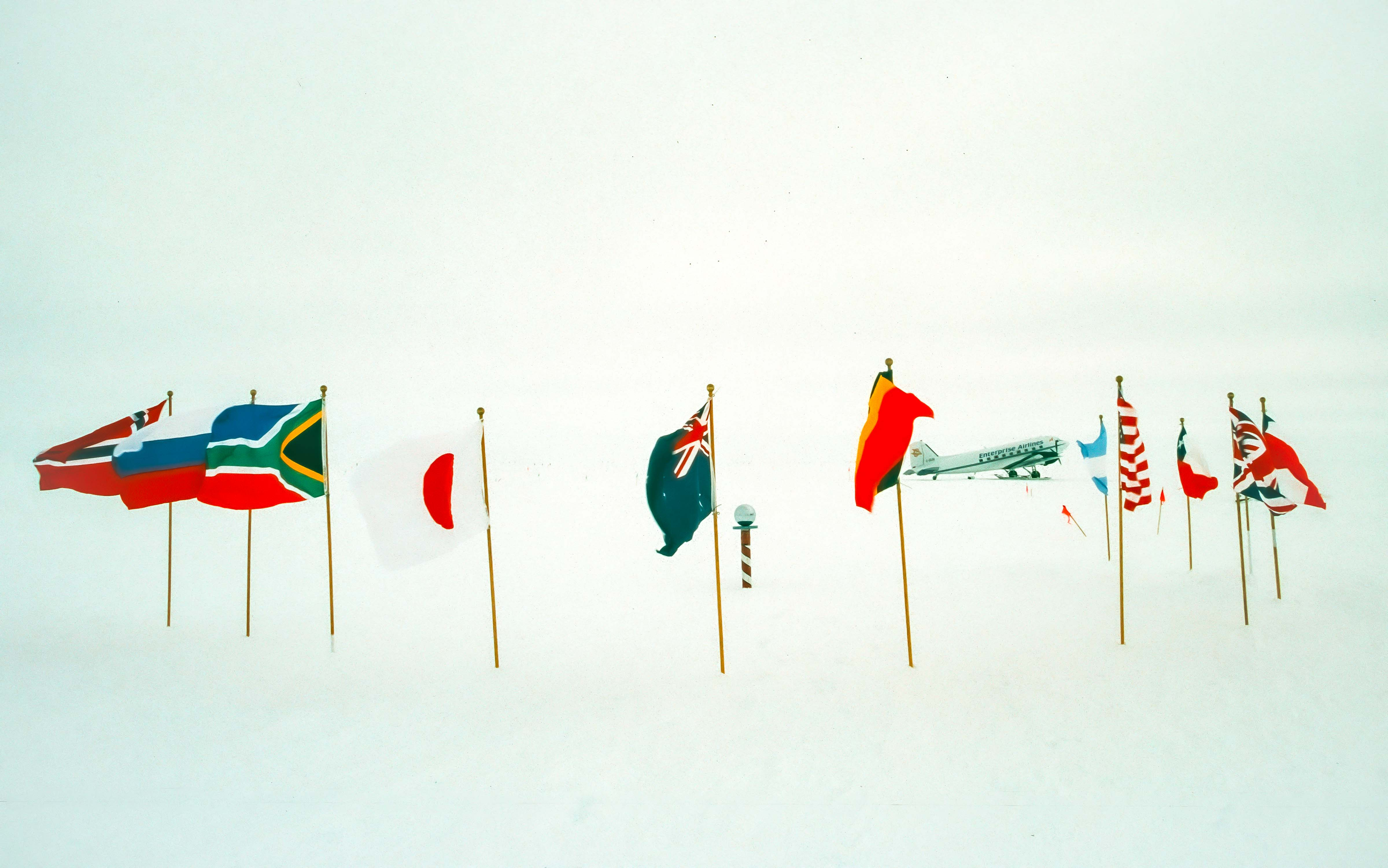 Antarctica, South Pole And Globe, 2001