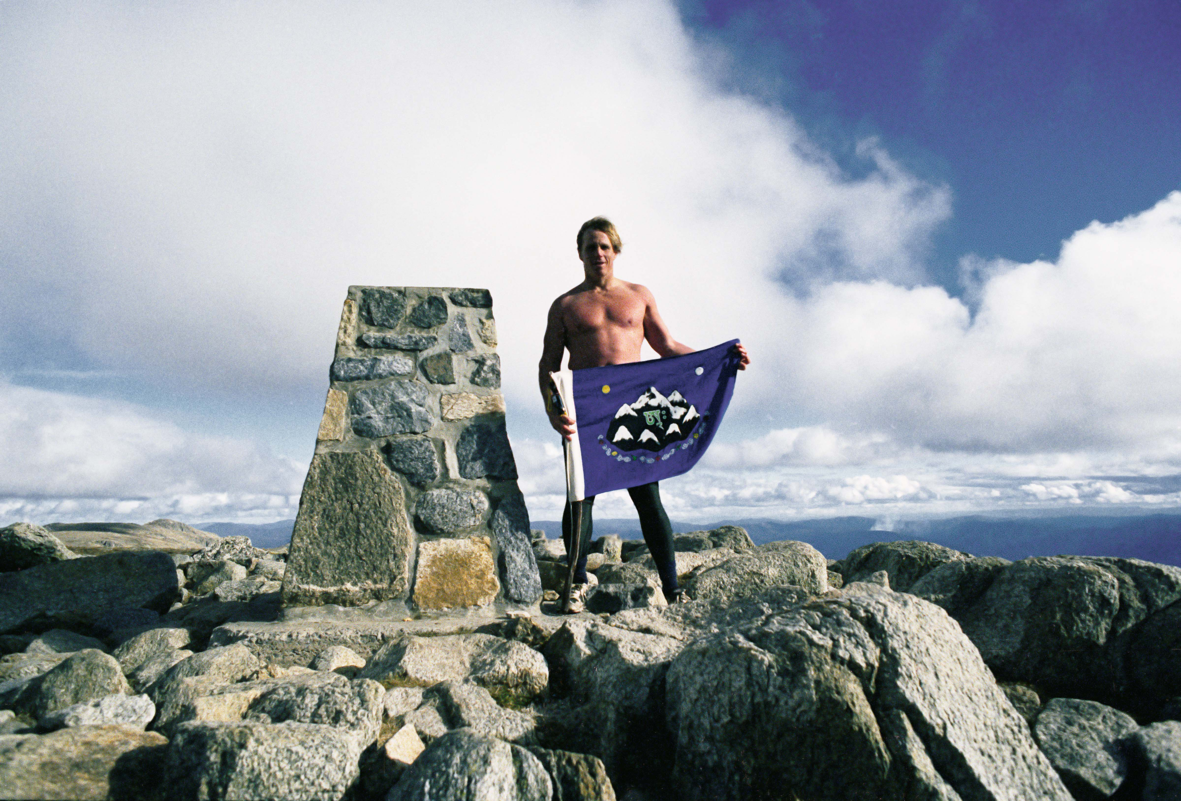 Australia, New South Wales Prov, Kosciusko Summit Shea 7 Summits Flag, 1996
