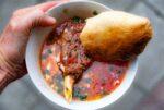 Azerbaijan, Balakan Prov, Lamb Dish, 2009, IMG 8375