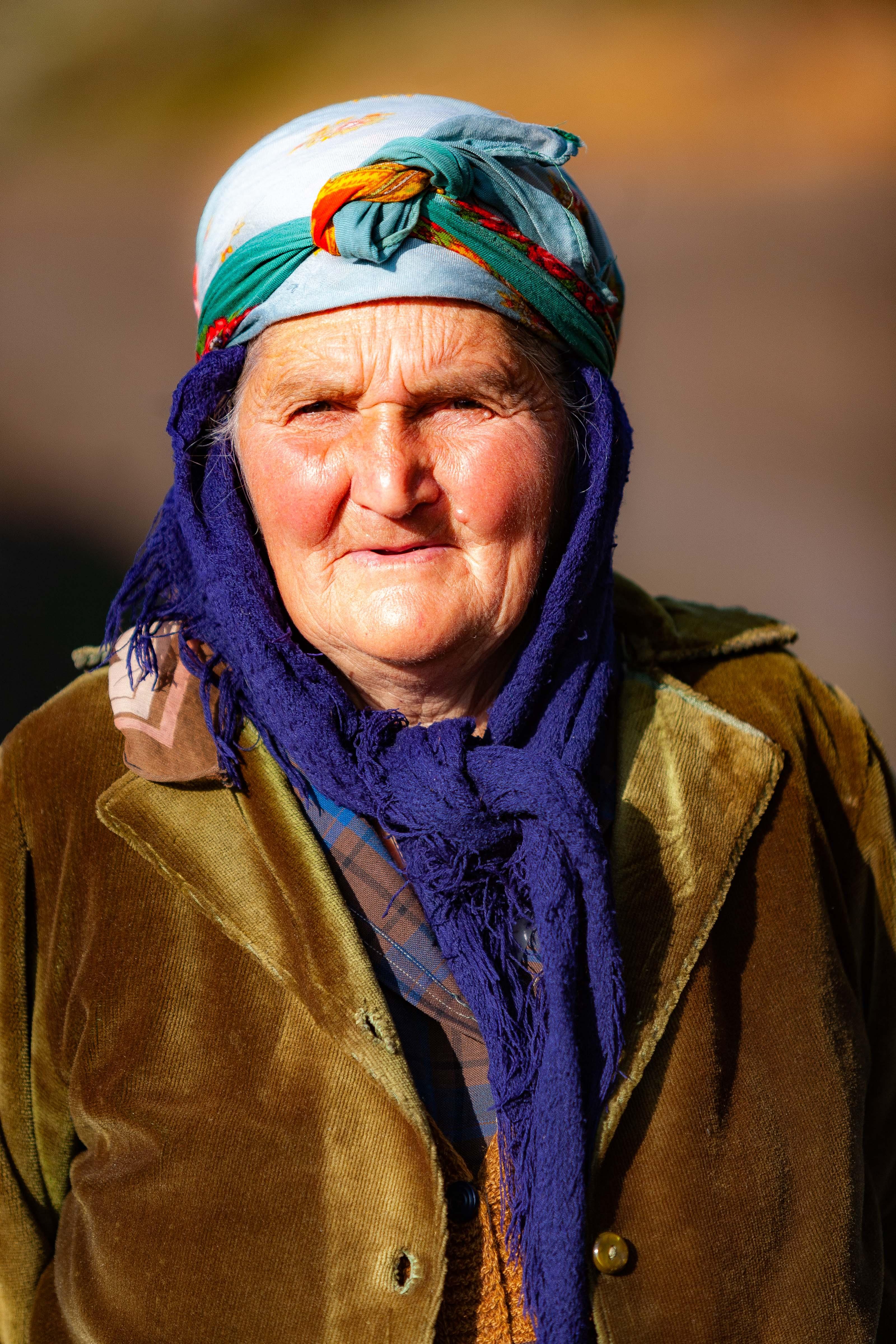 Azerbaijan, Qazax Prov, Old Woman, 2009, IMG 8706