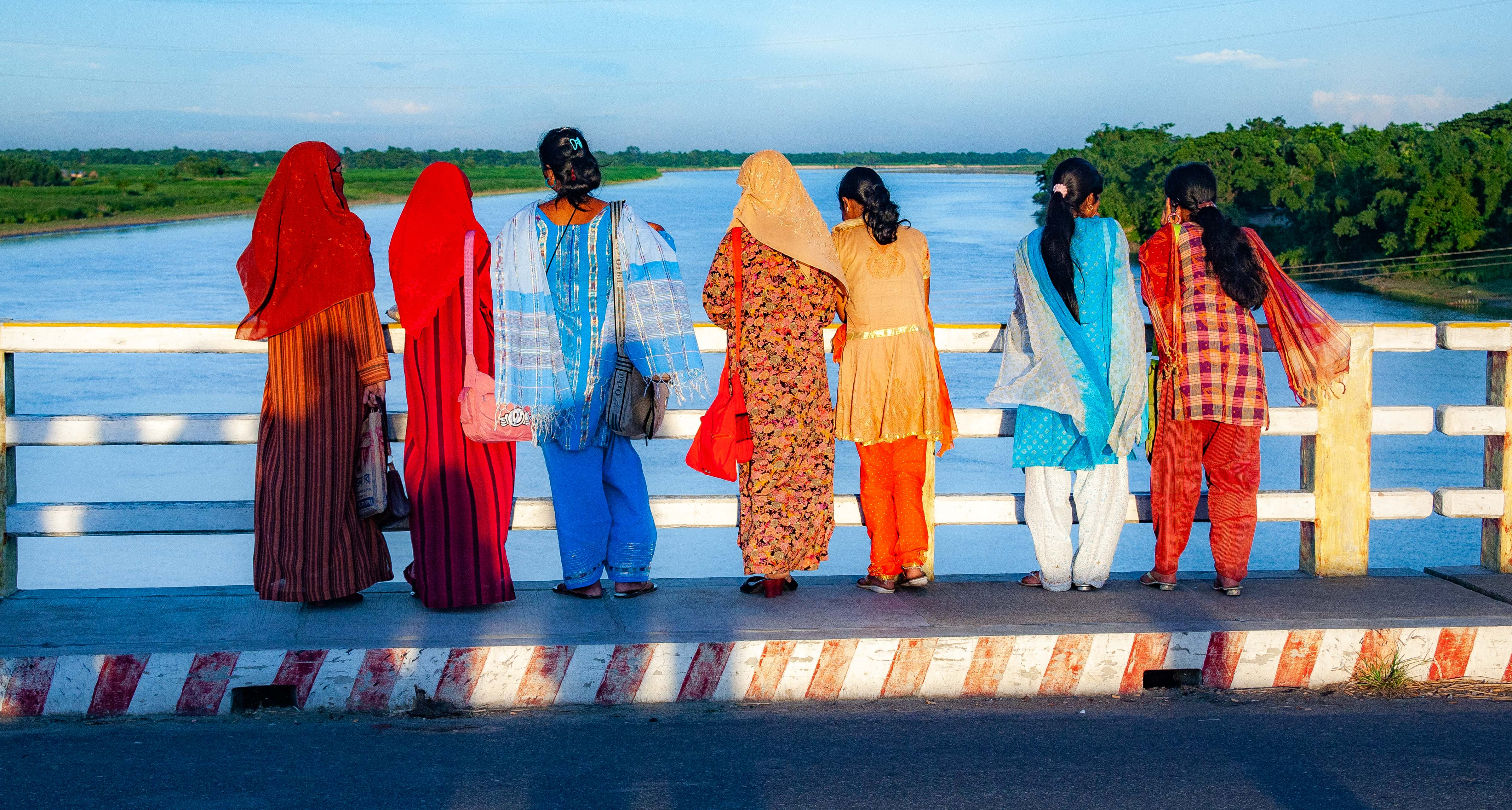 Bangladesh, Jamalpur Prov, Standing At Bridge, 2009, IMG 8874