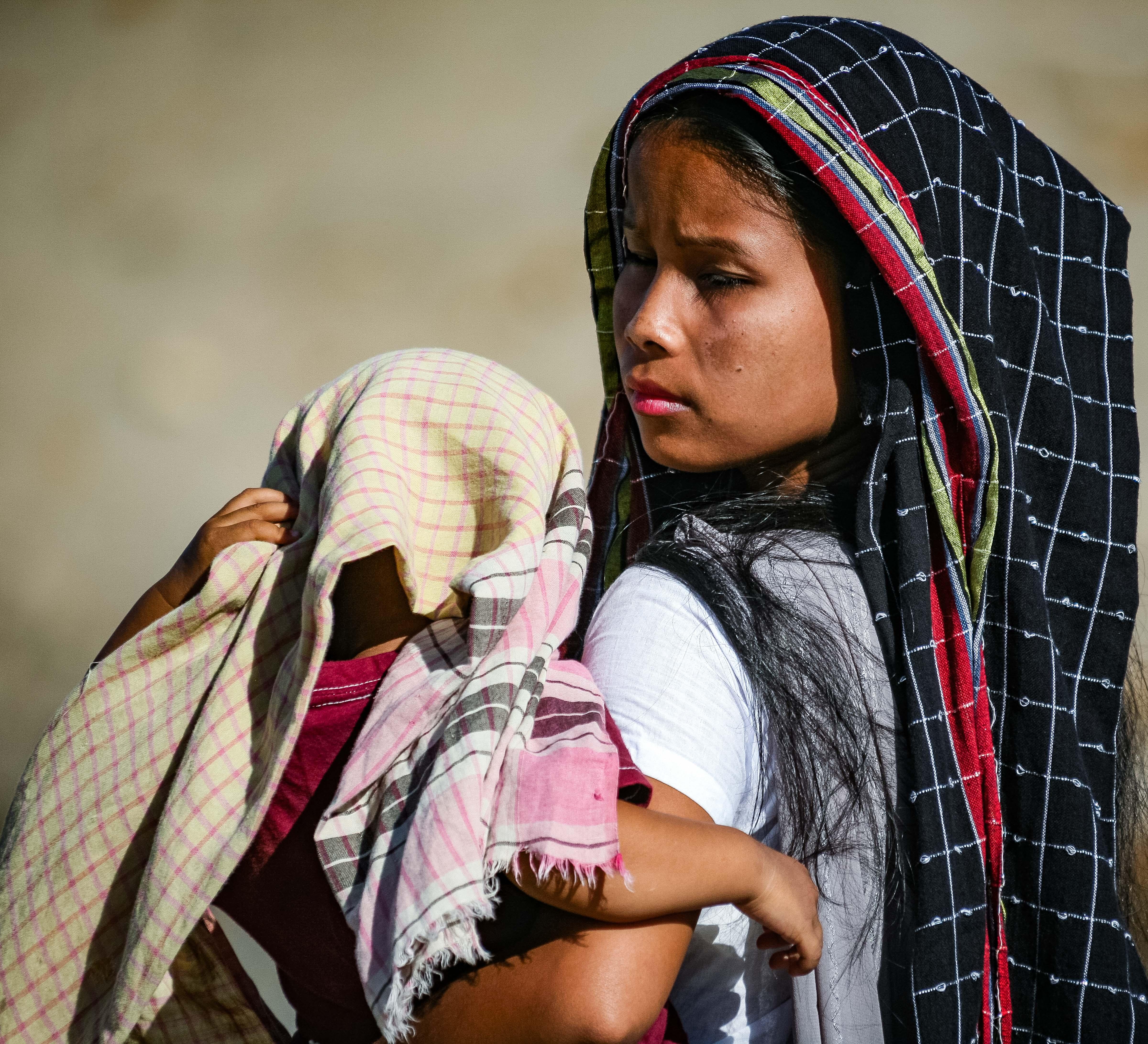 Bangladesh, Sylhet Prov, Young Girl with Baby, 2009, IMG 8238