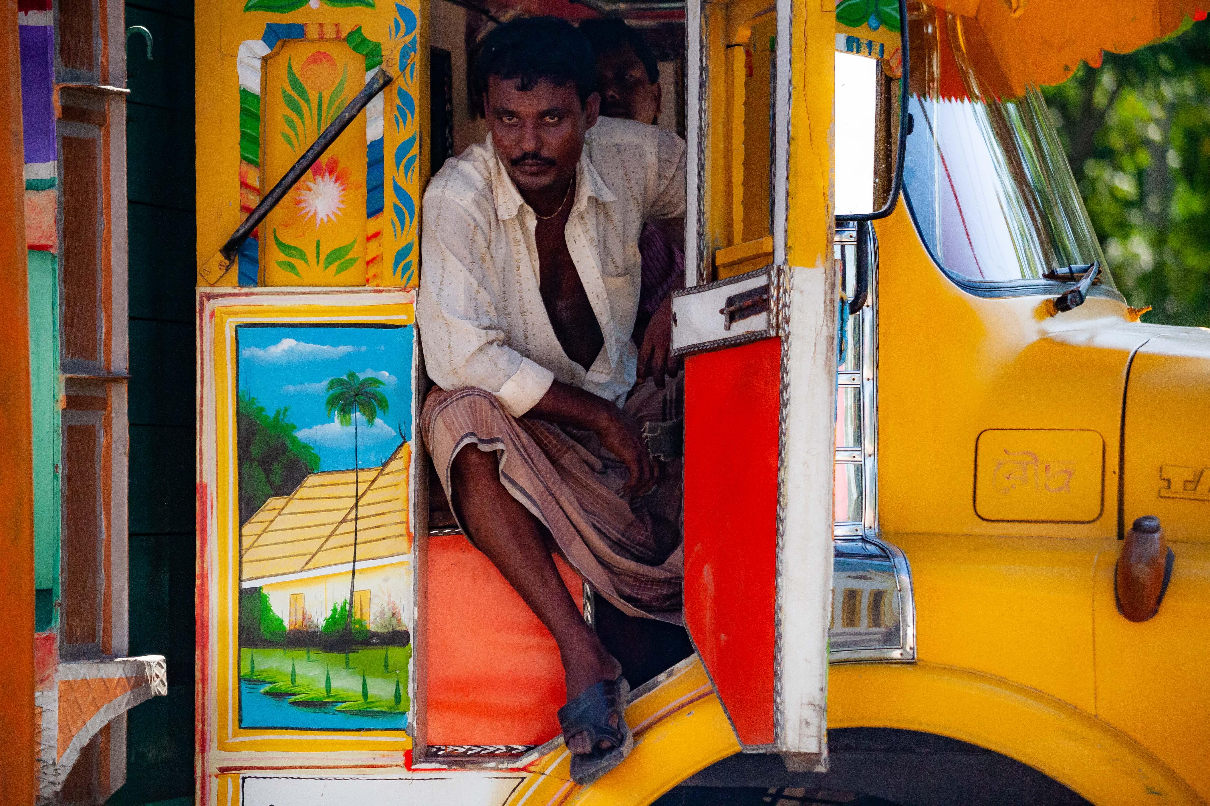 Bangladesh, Tangail Prov, Busdriver, 2009, IMG 8965