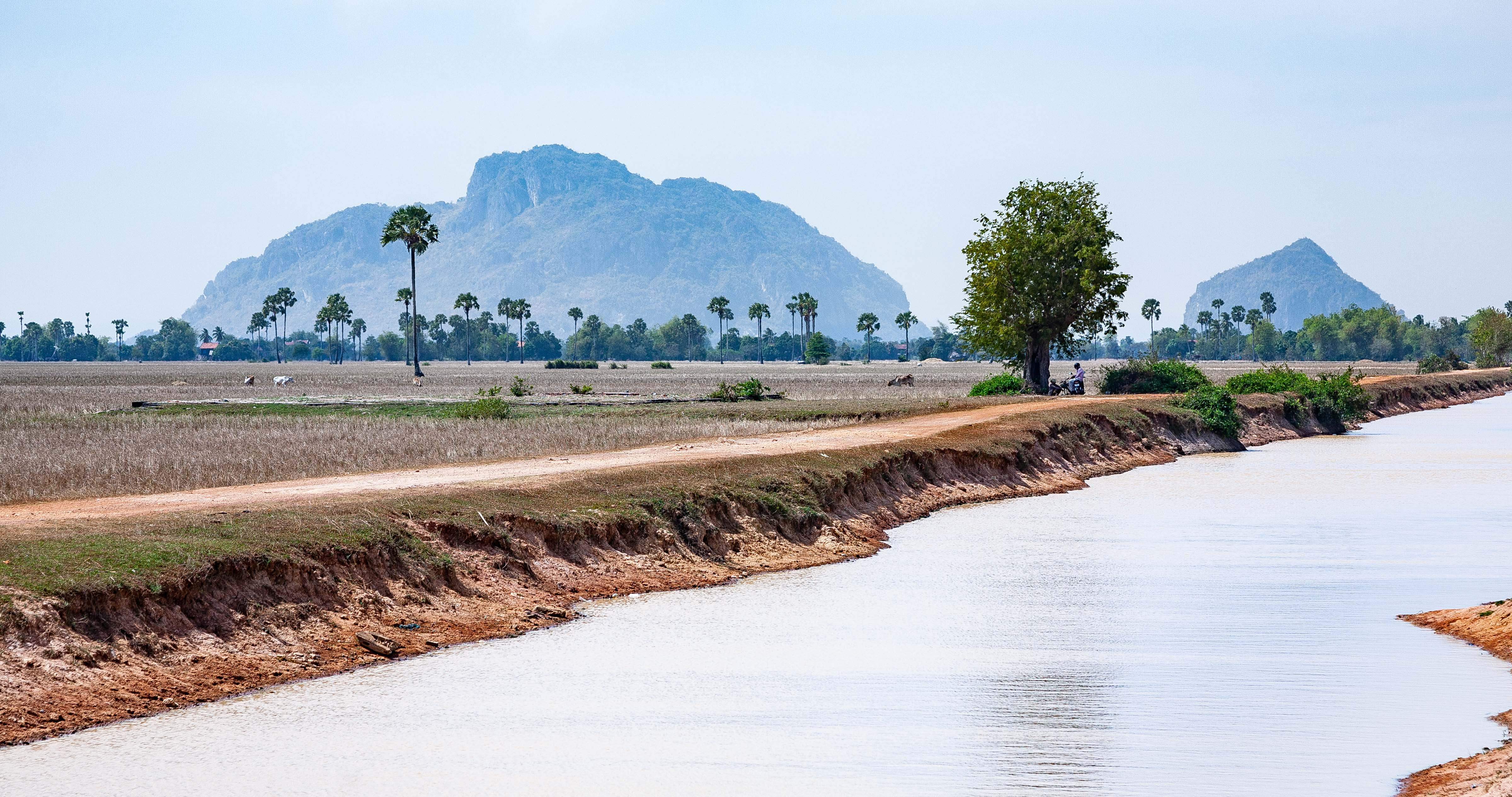 Cambodia, Kampot Prov, Landscape And Canal, 2010, IMG 4849