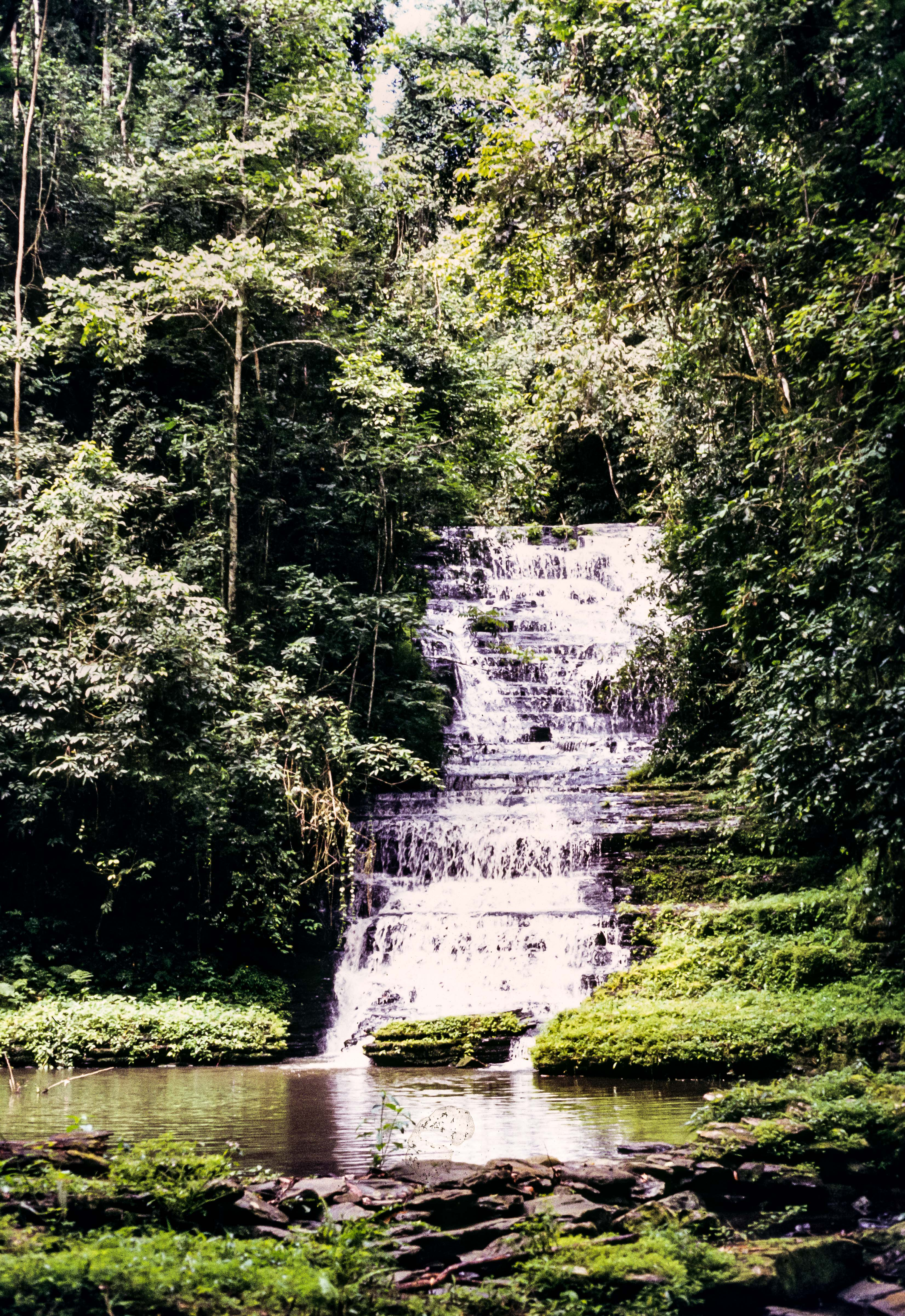 Congo Zaire, Mt. Hoyo Waterfall, 1984