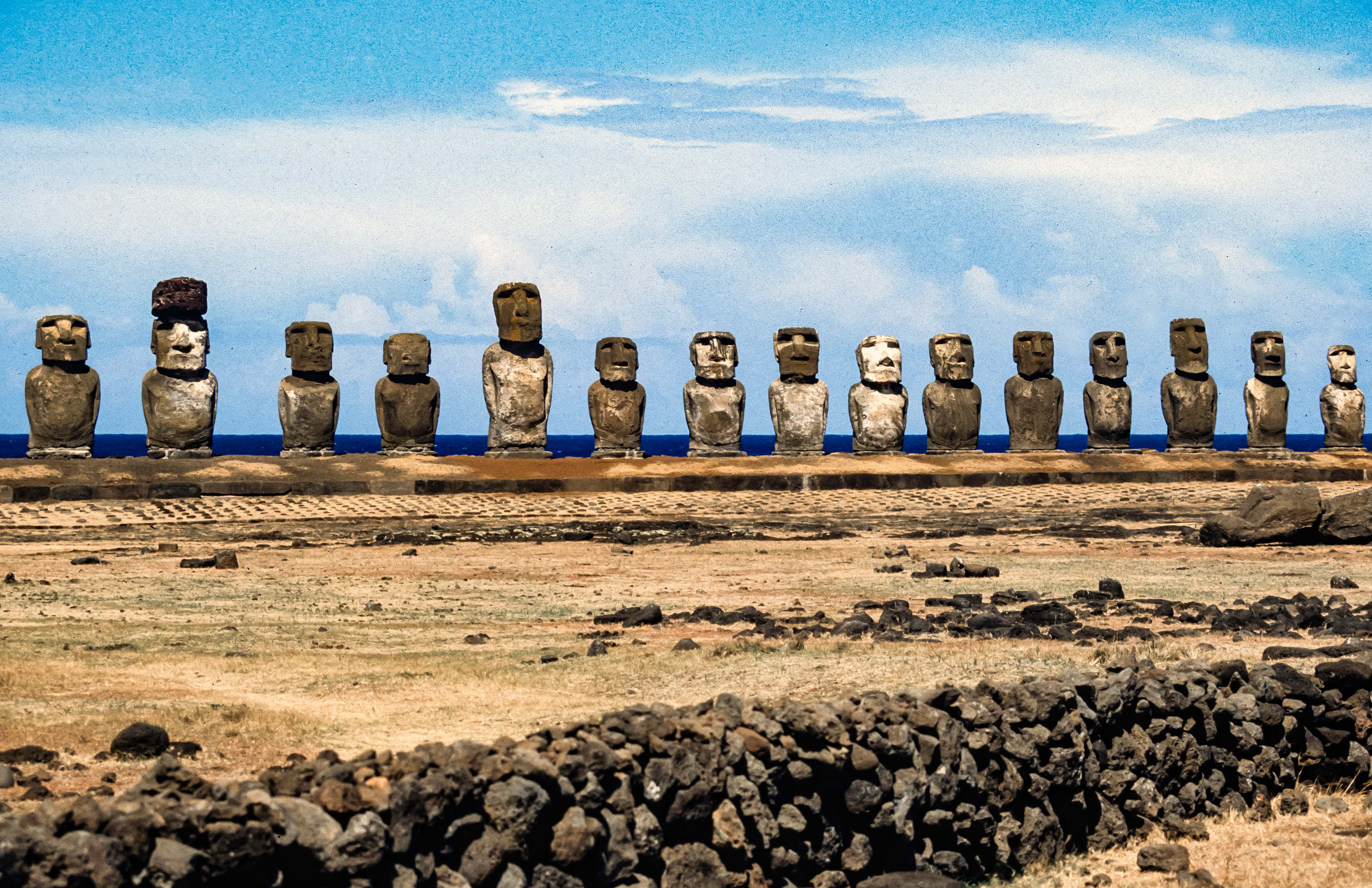 Easter Island, Moai In A Row, 1997