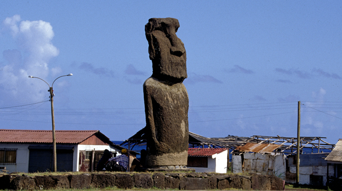 Easter Island, Moai In Town, 1997