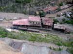 Ecuador,TrainOnSwitchbacksAboveStation,1979