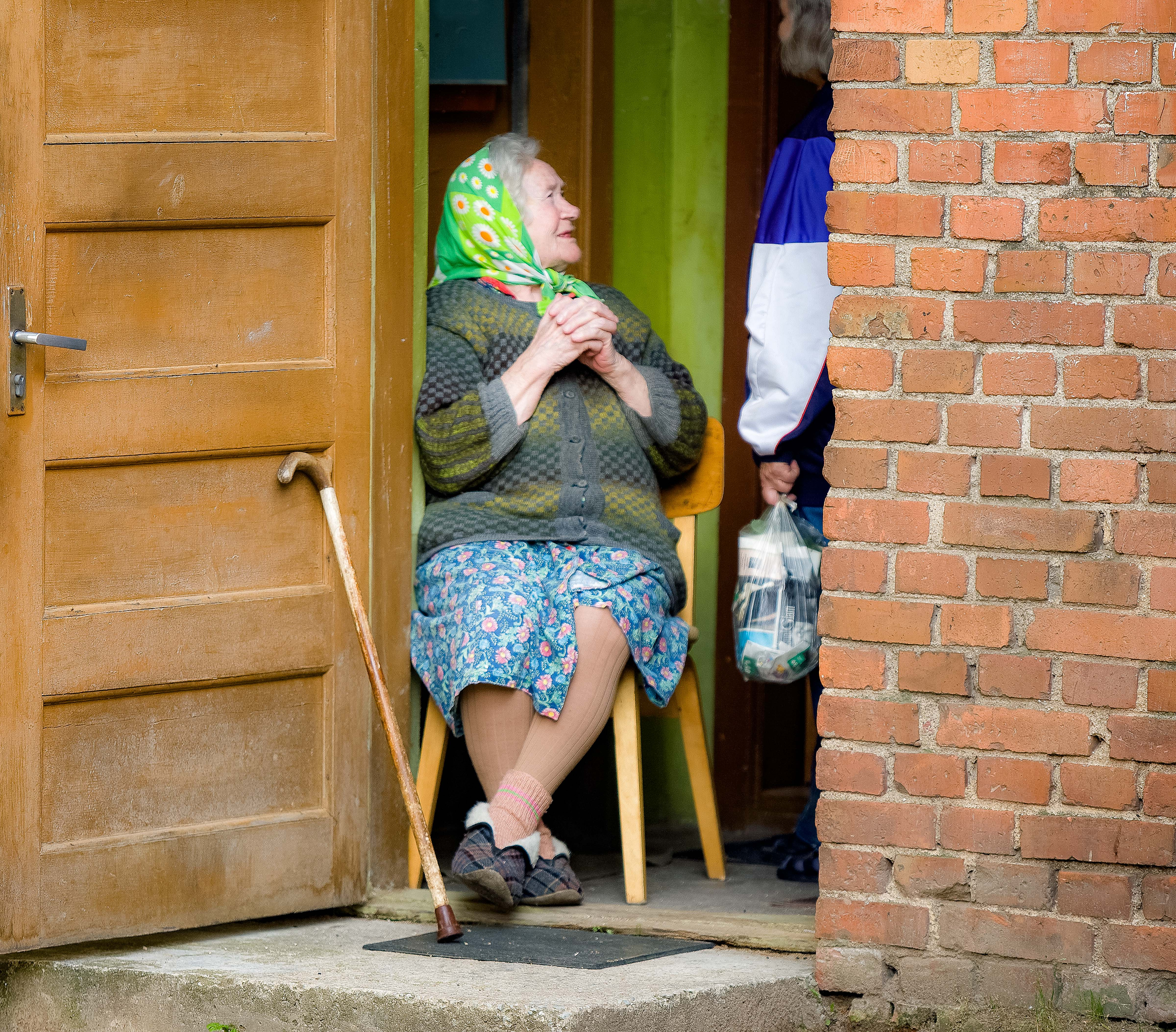 Estonia, Viljandimaa Prov, Old Woman Listening, 2010, IMG_1381