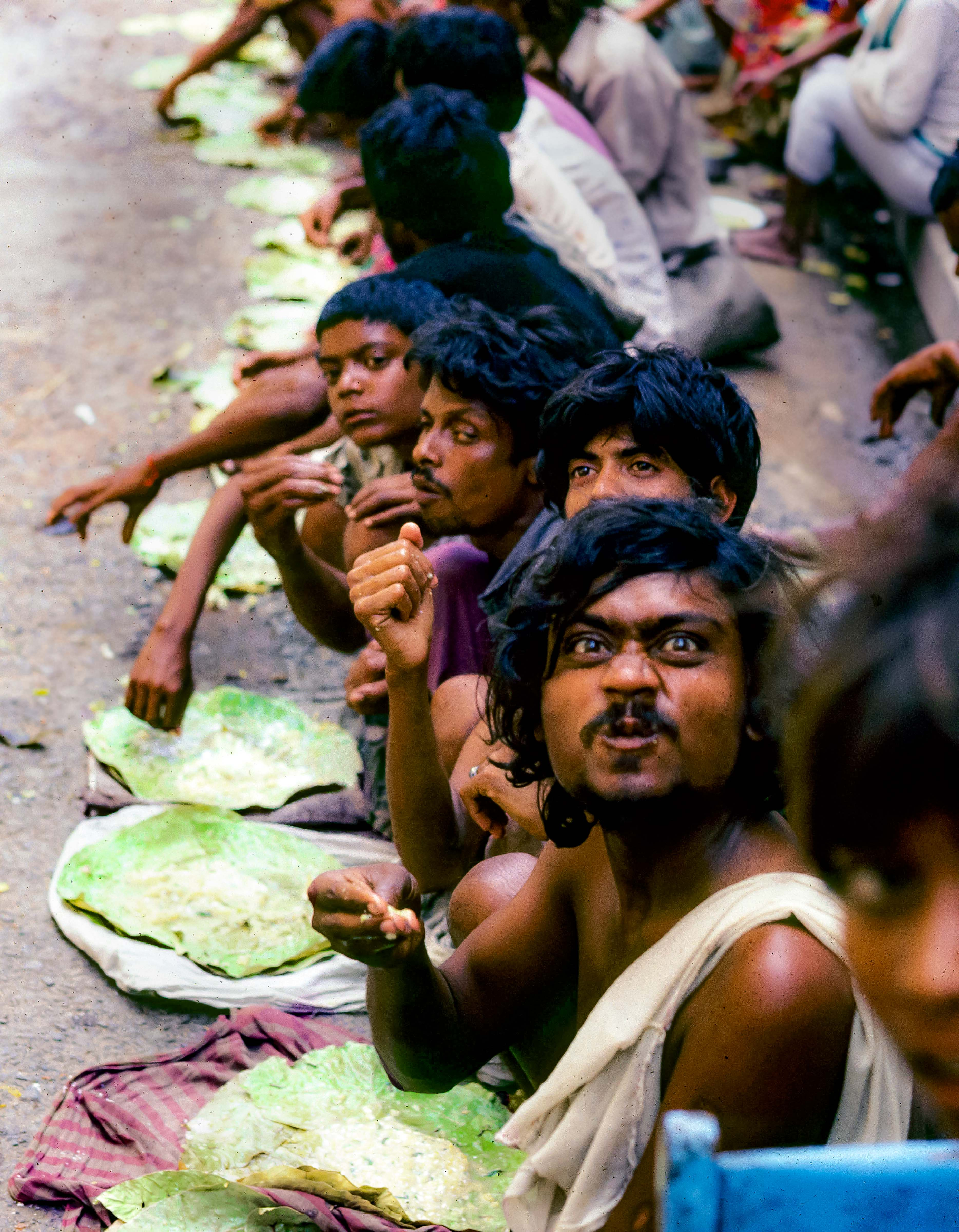 India, Calcutta, Food Line, 1984