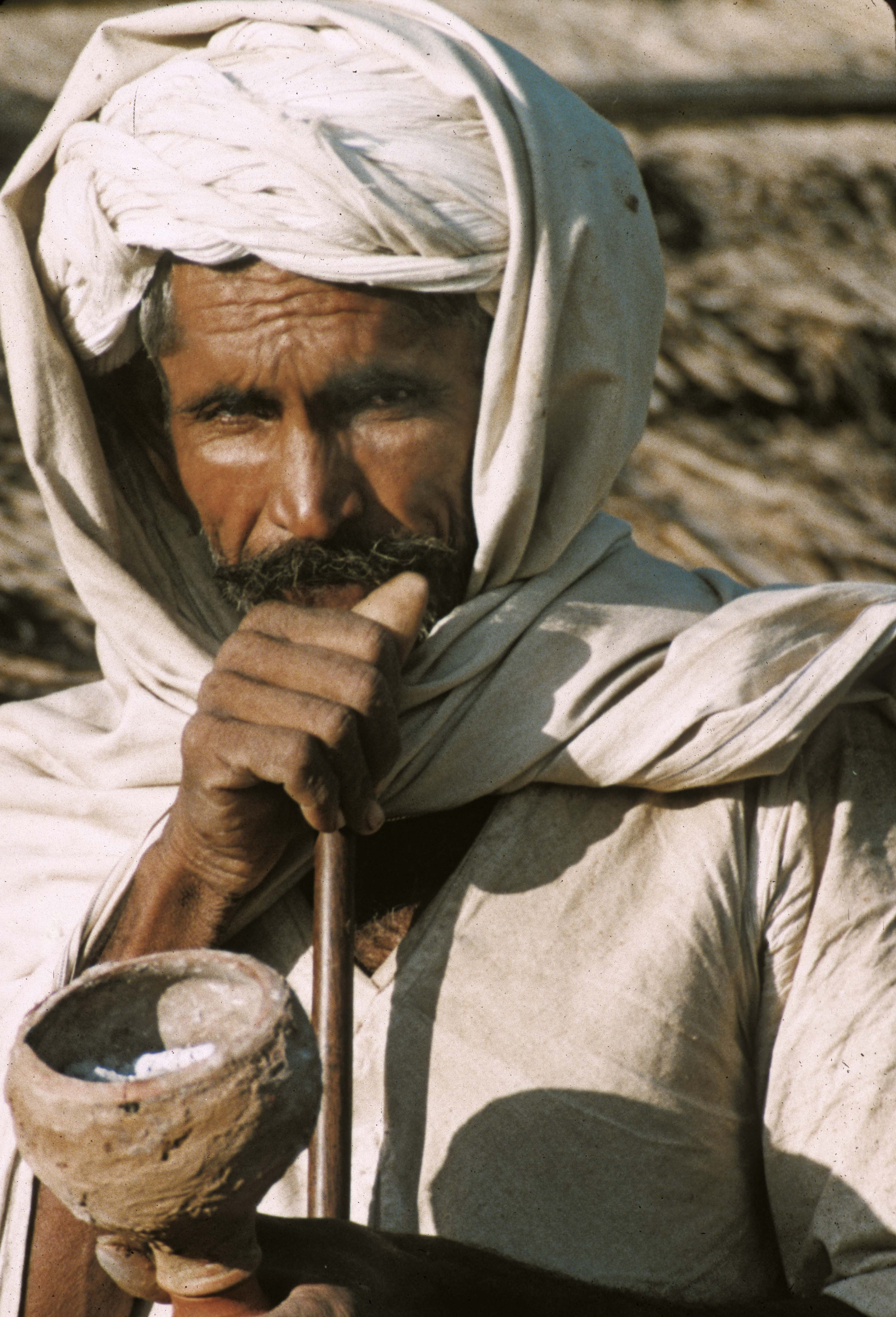India, Rajasthani Farmer With Pipe, 1984