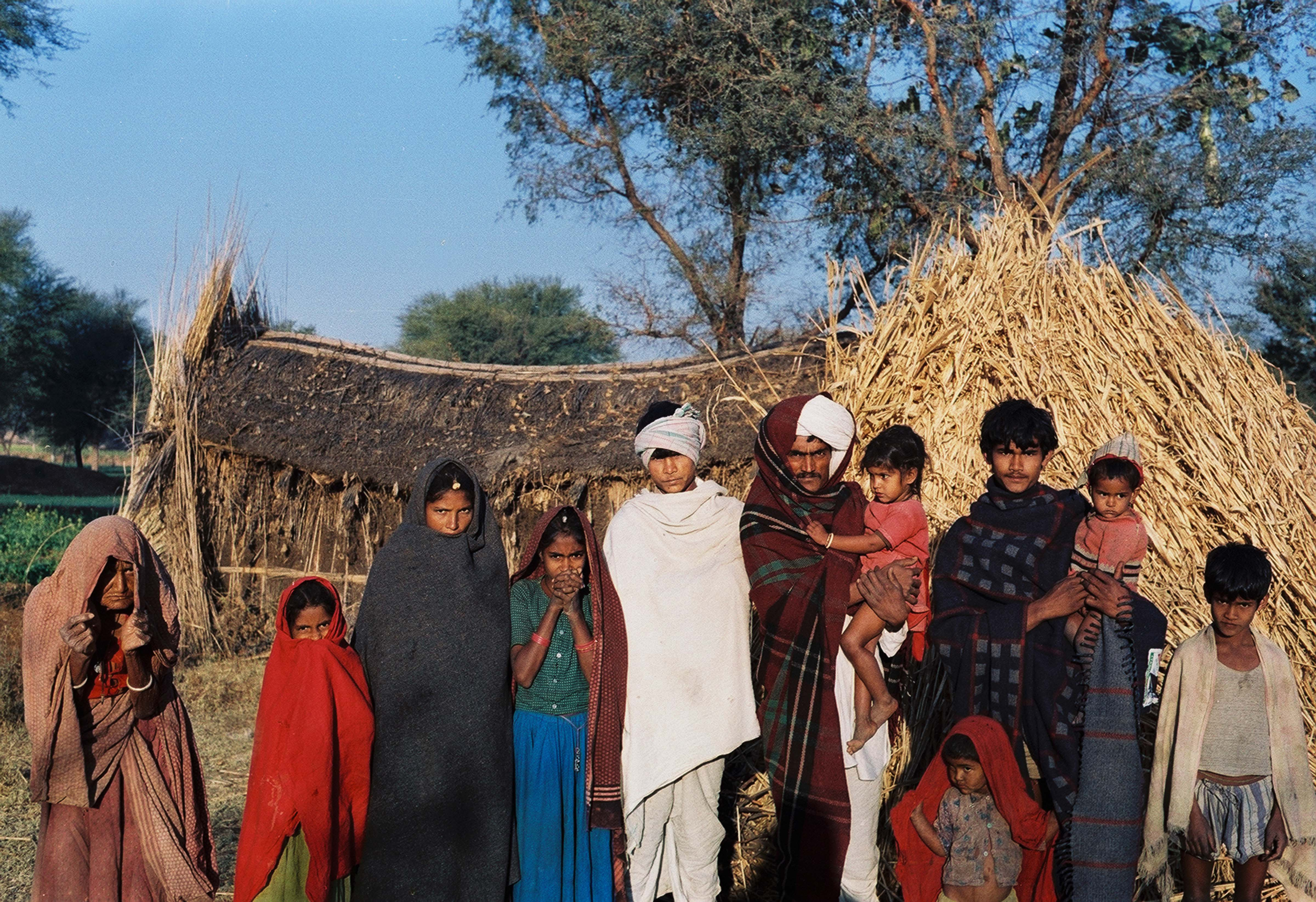 India, Rajasthan Family With House, 1984