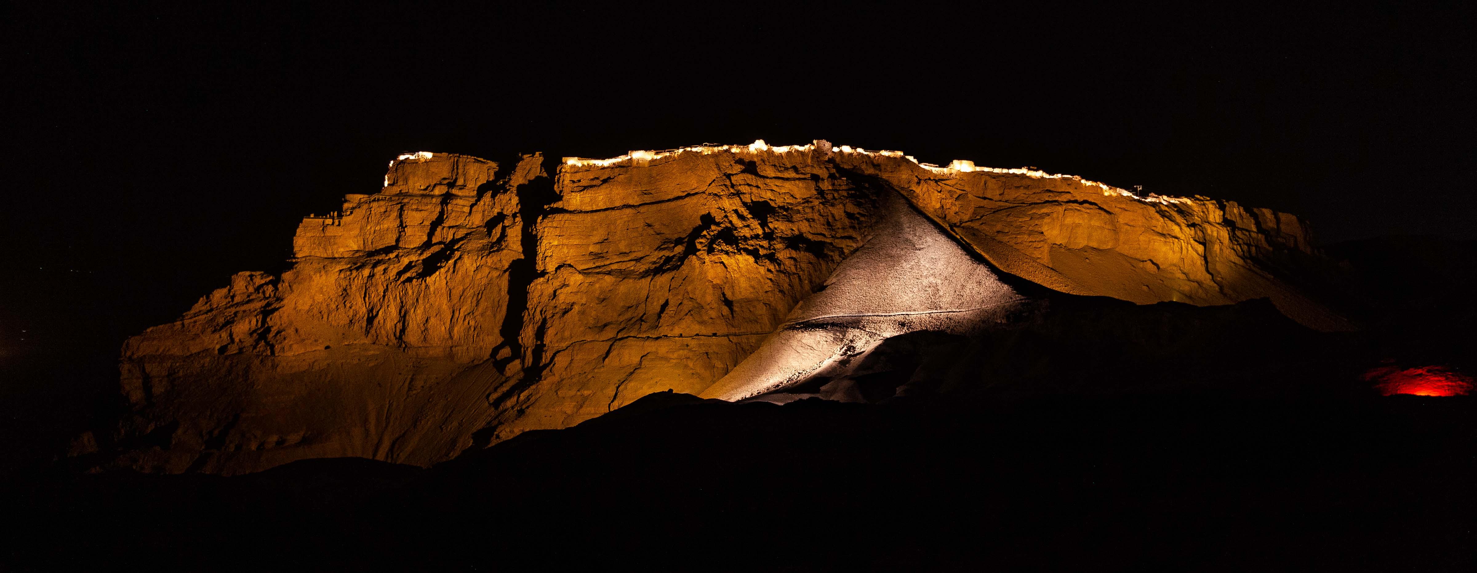 Israel, Southern Prov, Masada At Night, 2012, IMG 6415