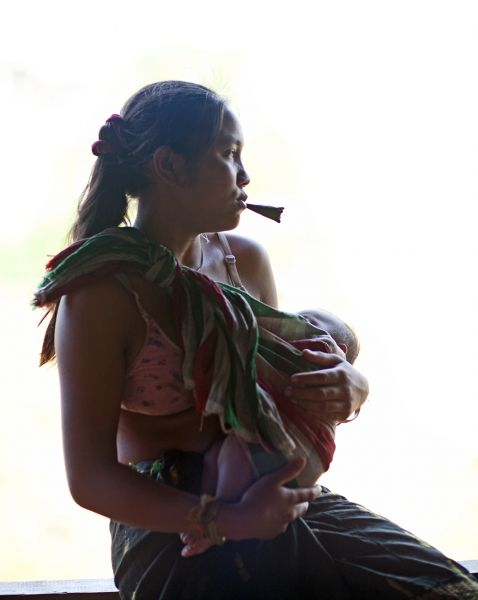 Laos, Attapeu, Woman And Child, 2011, IMG 3781