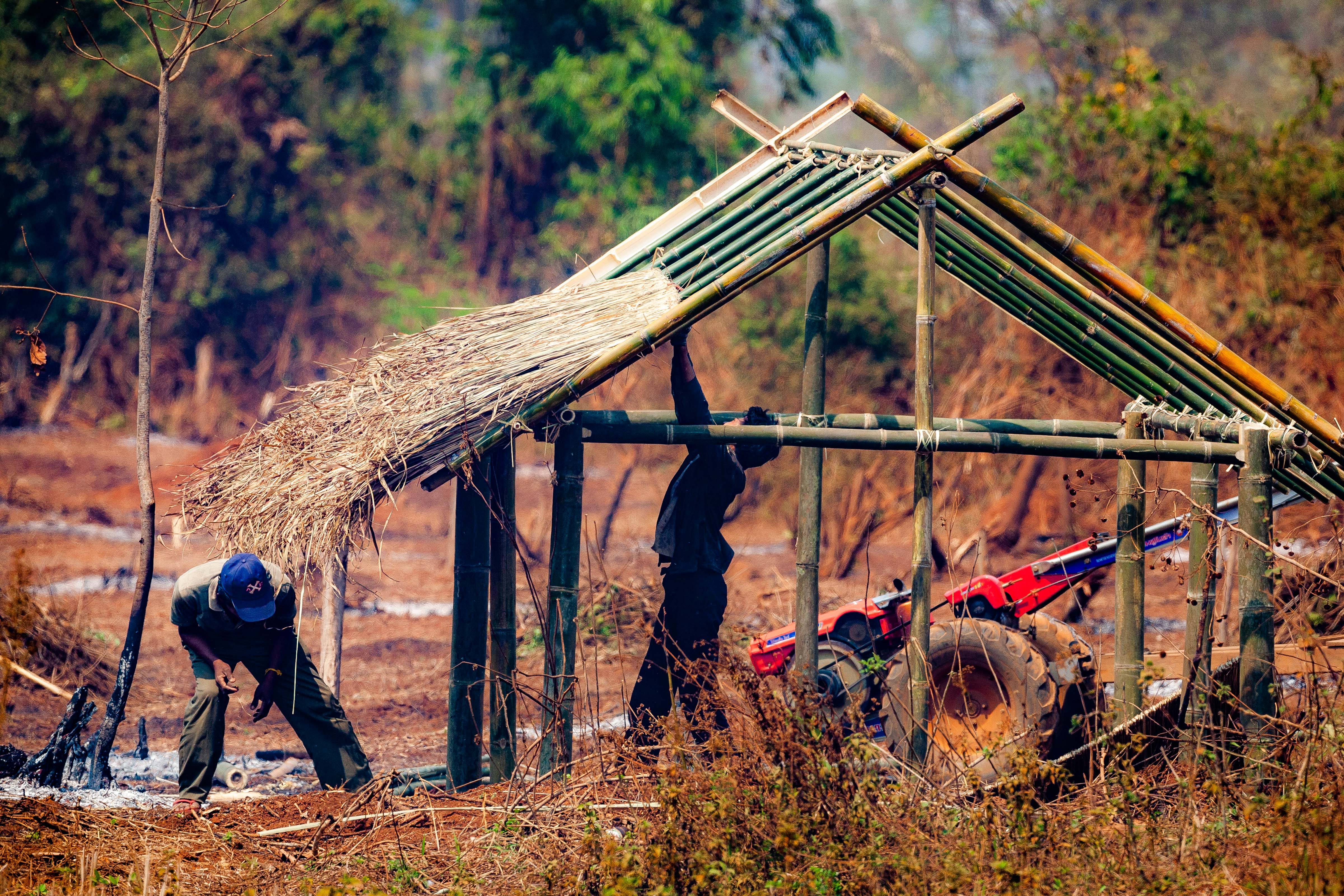 Laos, Sekong Prov, Building A House, 2008, IMG 0465