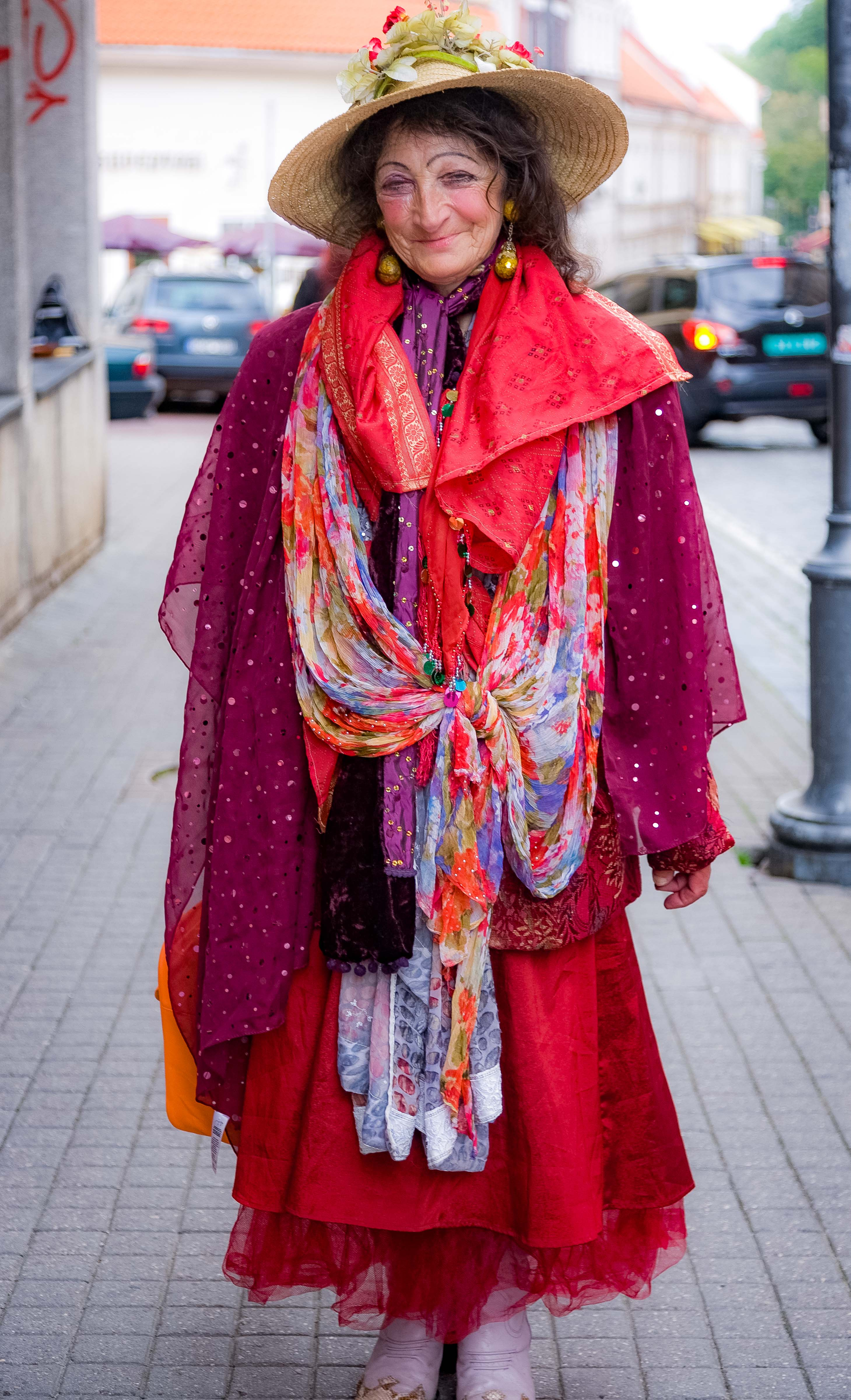 Lithuania, Vilnius Prov, Colorful Lady, 2010, IMG_3109