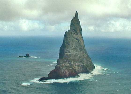 Lord Howe Island, Balls Pyramid, Side View, 2001