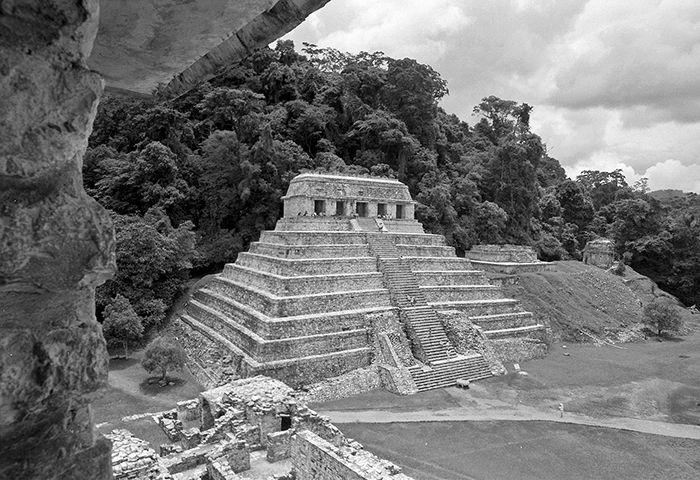Mexico, Yucatan Prov, Temple Of The Inscriptions – Palenque, 1993, 4×5