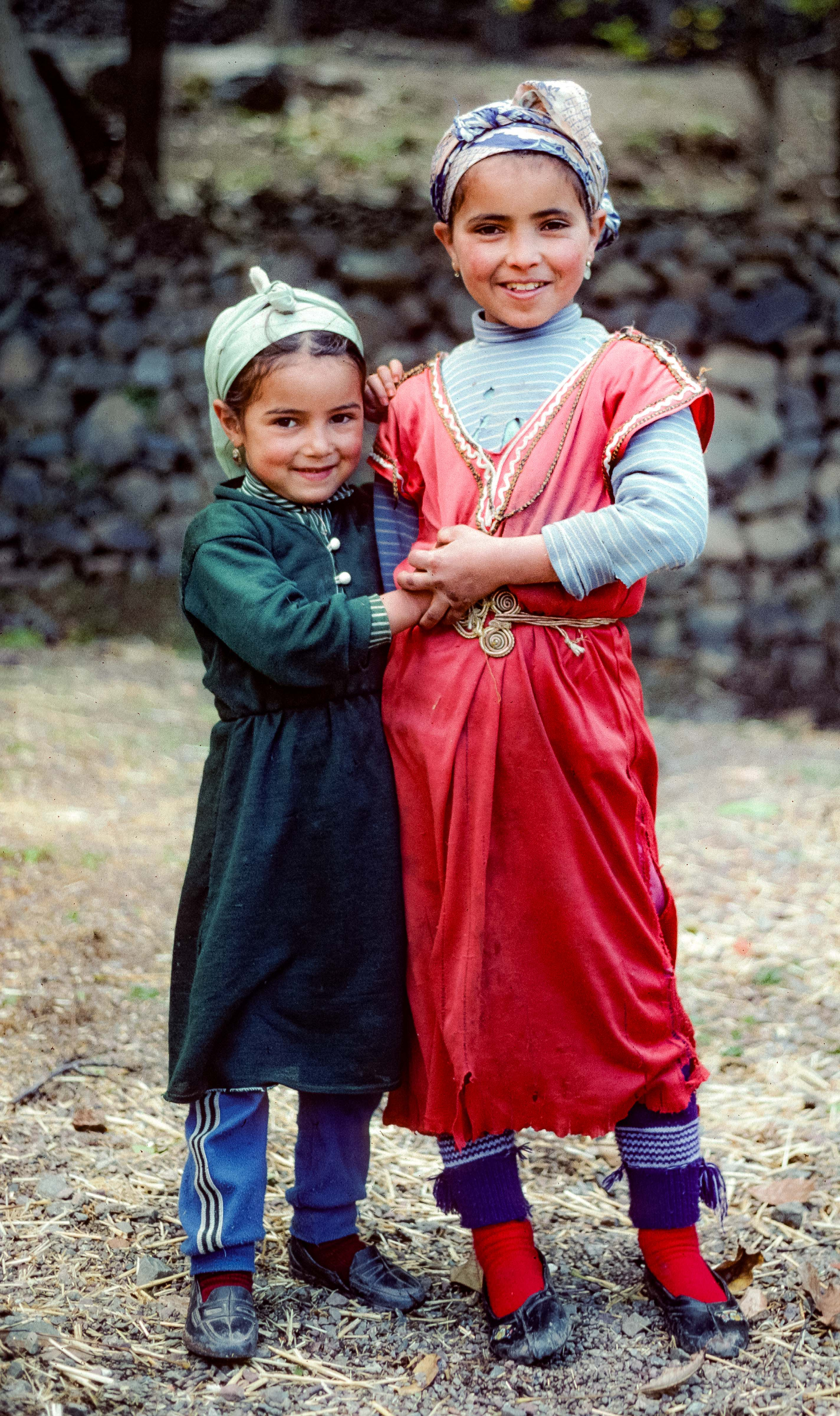 Morocco, Two Berber Girls, 1988