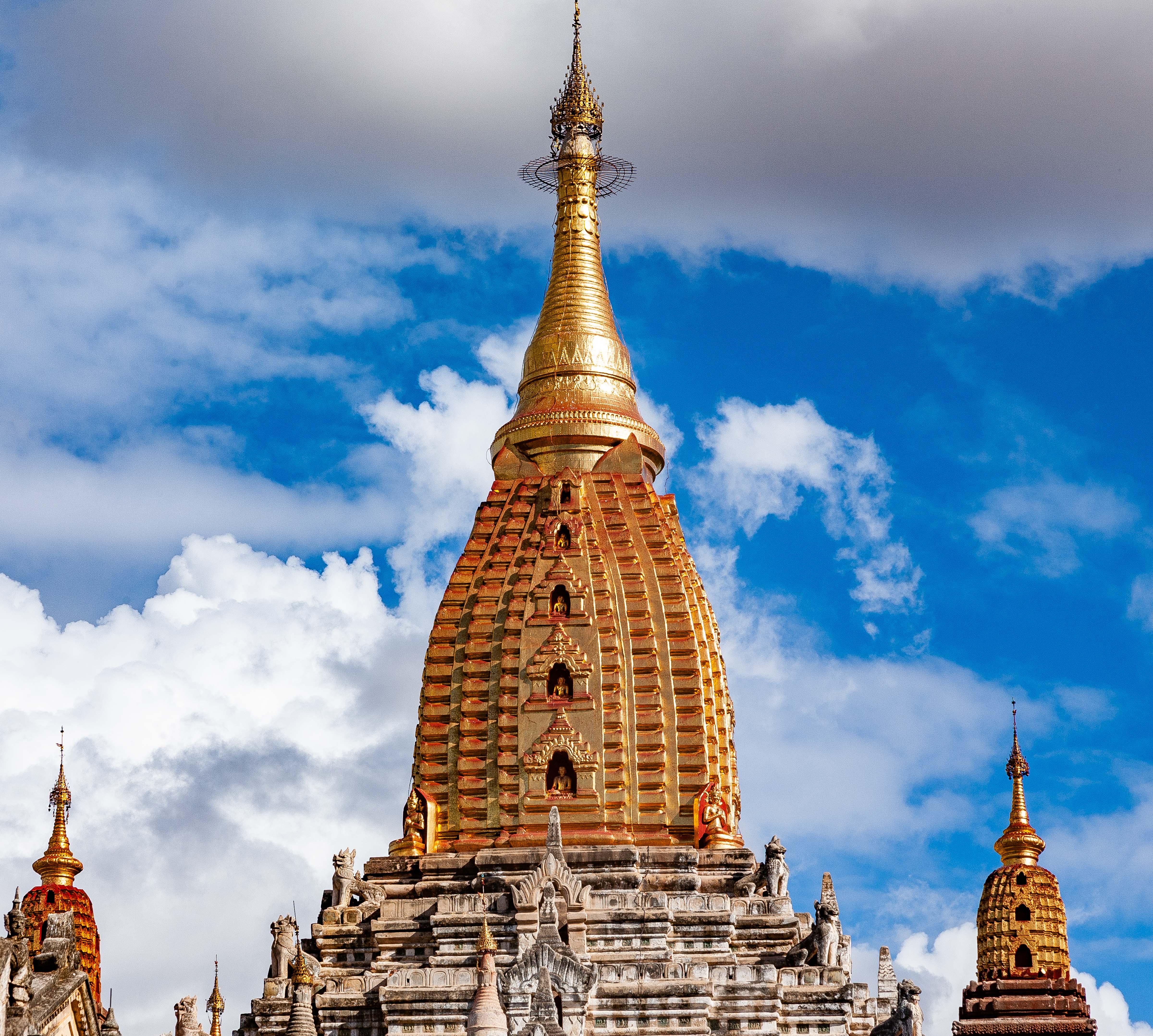 Myanmar, Mandalay Prov, Bagan Temple Detail, 2009, IMG 4979