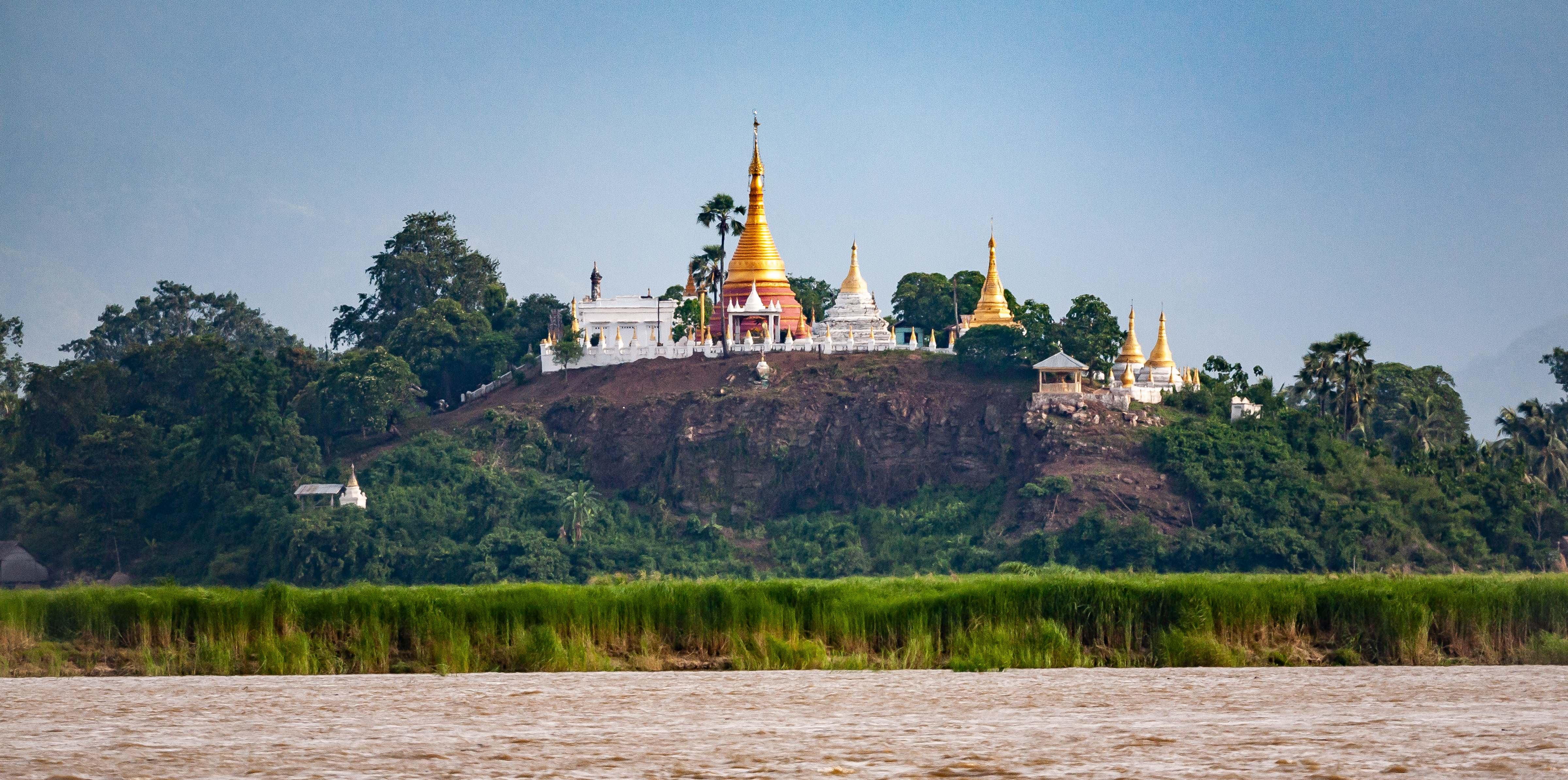 Myanmar, Unknown Prov, Temple Village Near River, 2009, IMG 3855