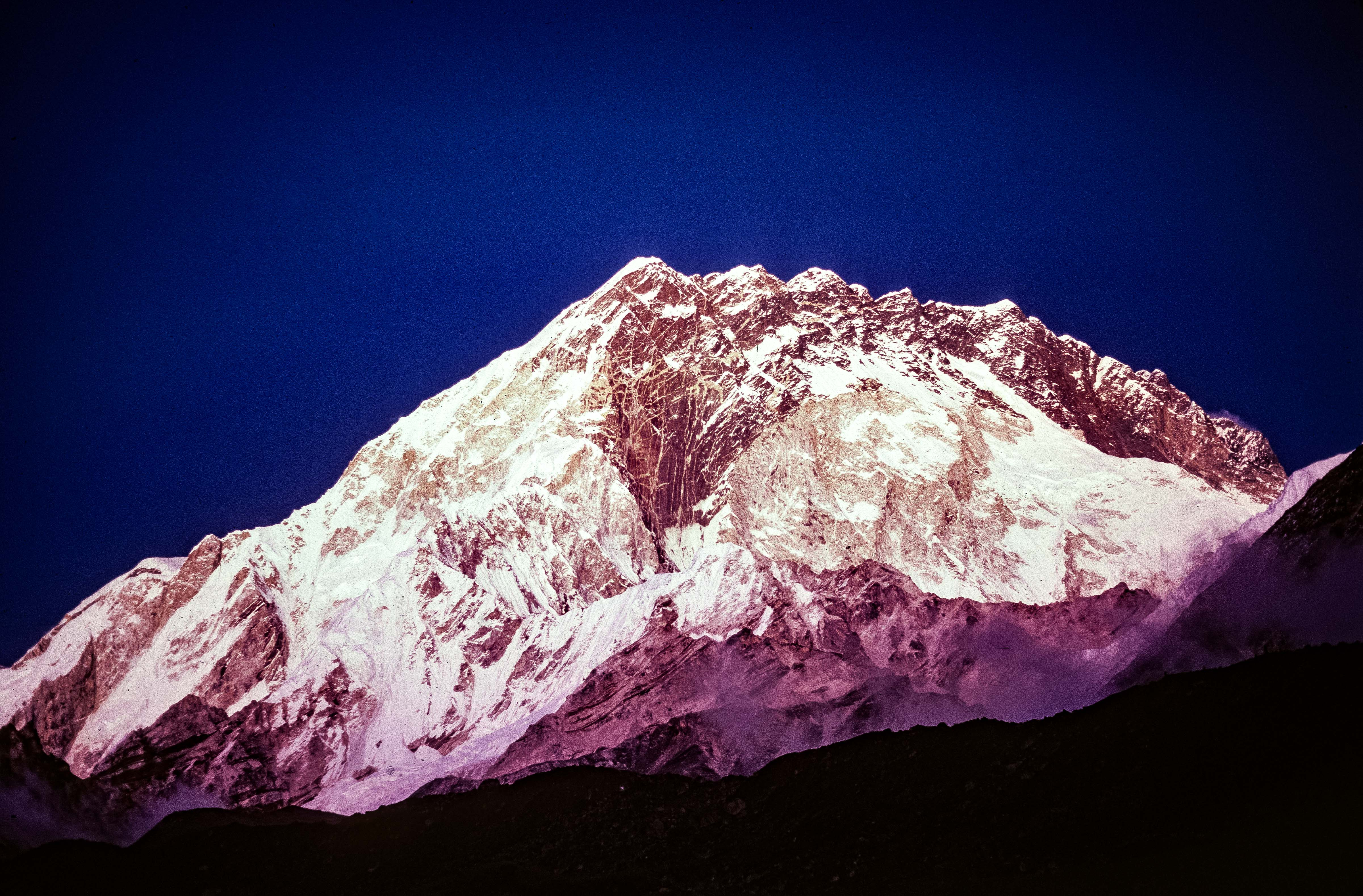 Nepal, Lhotse-Everest in Sunset, 1983