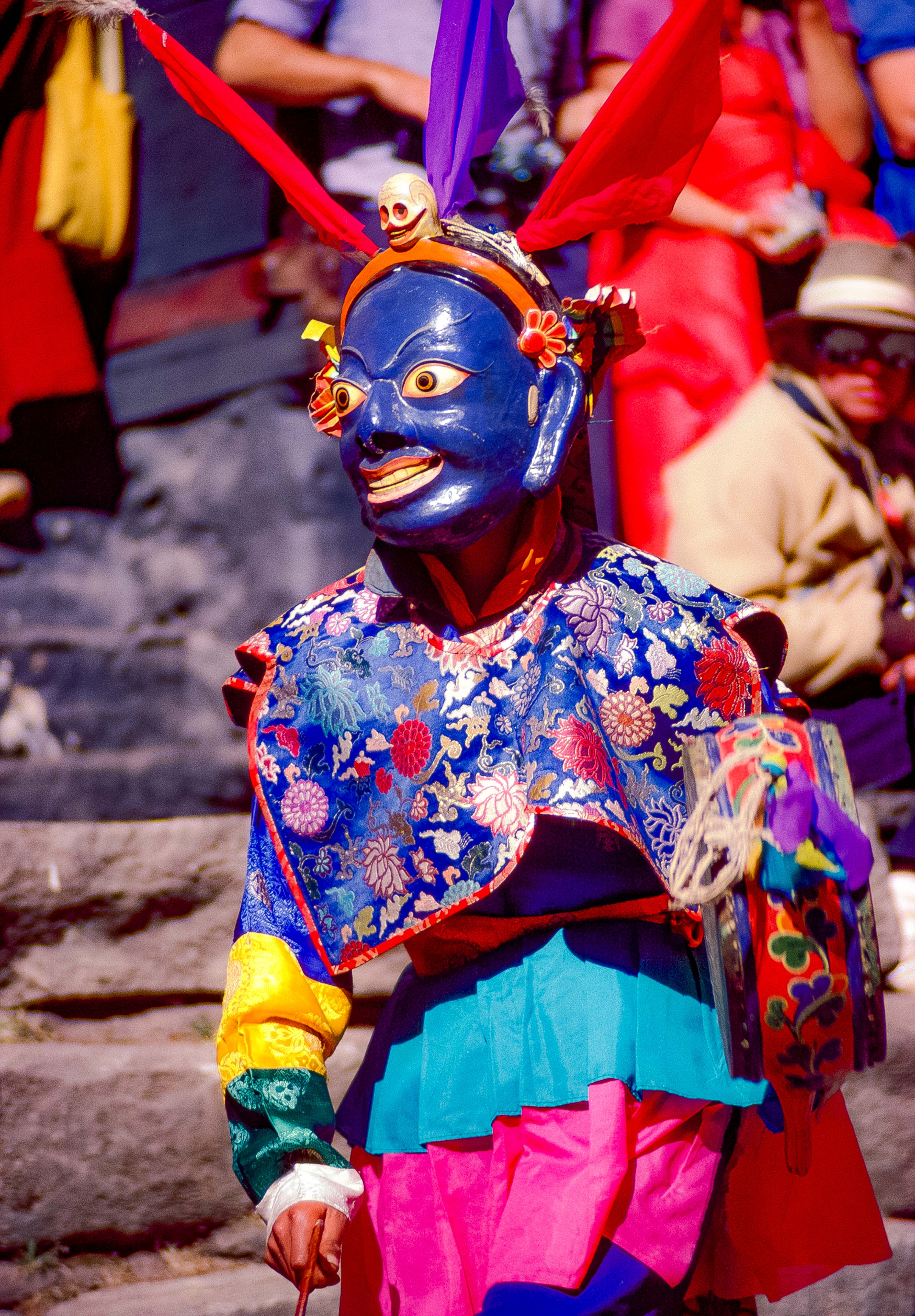 Nepal, Mani Rimdu, Blue Masked Dancer, 1983