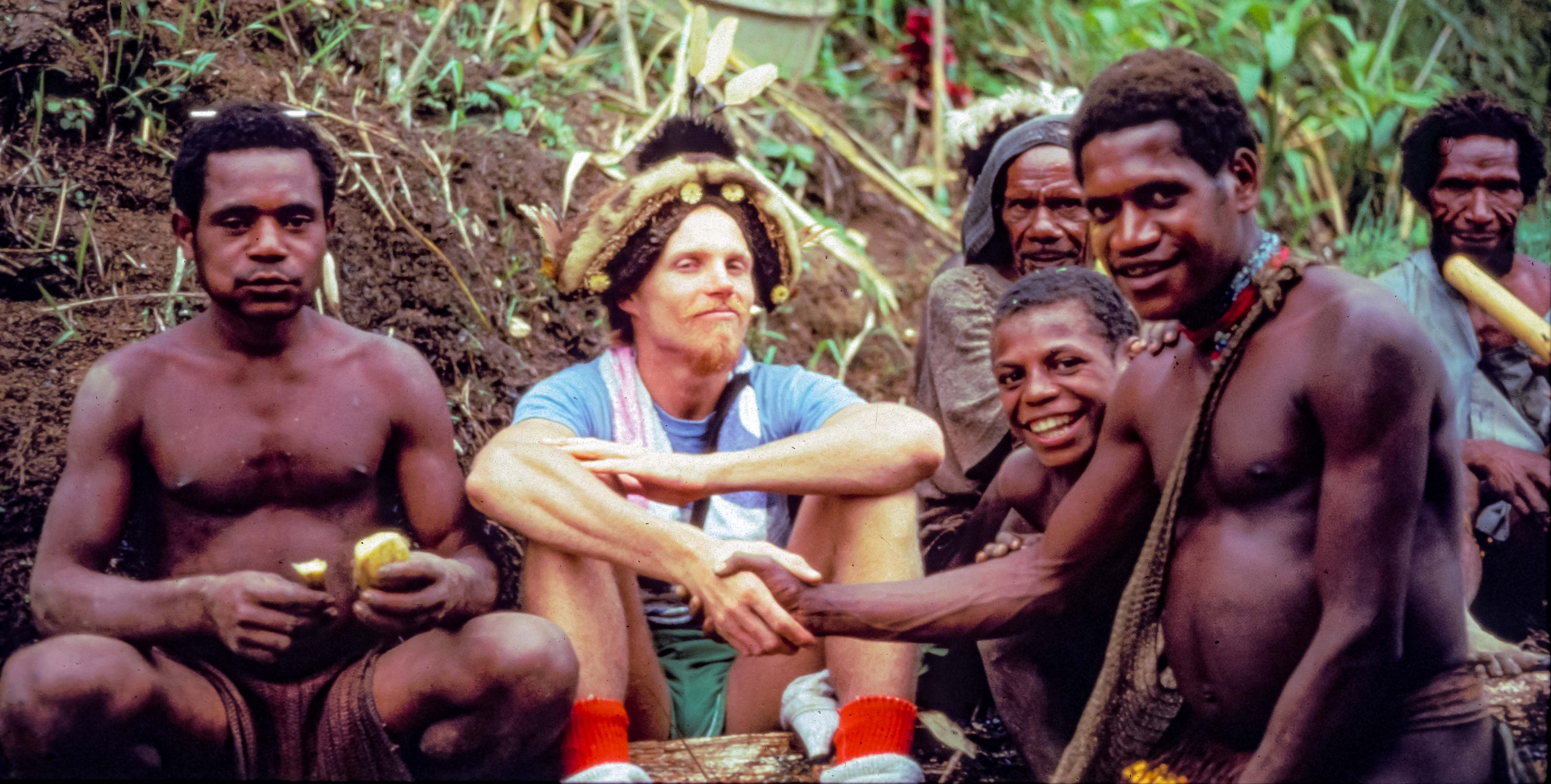Papua New Guinea, Jeff Shea With Wig, 1983