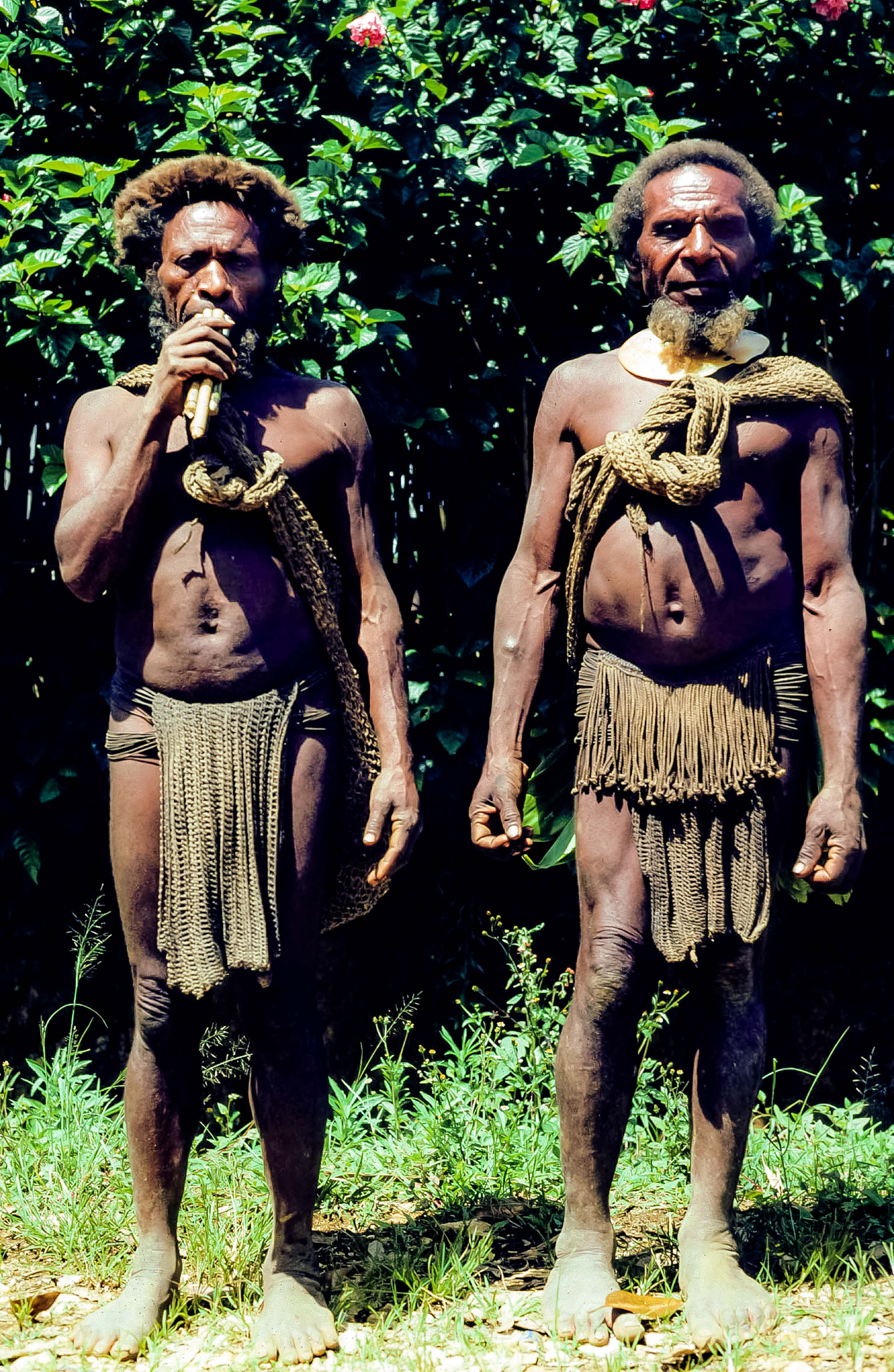 Papua New Guinea, Koroba, Two Wigmen, 1983
