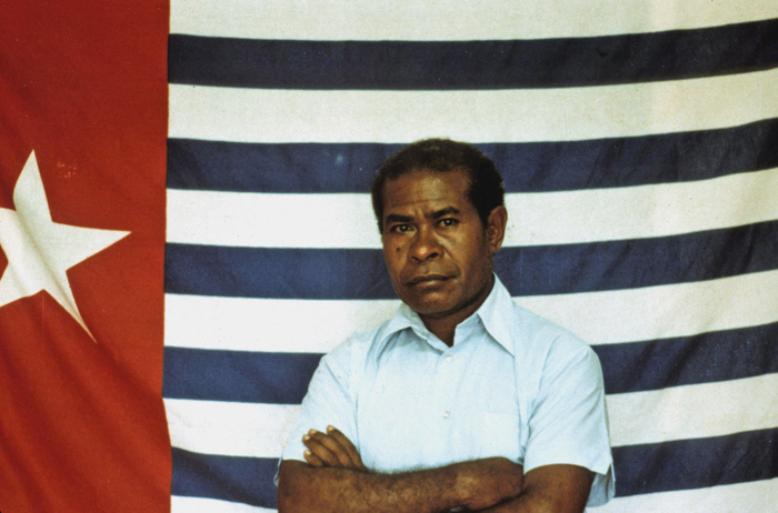 Papua New Guinea, East New Britain, General of the Revolutionary Army of West Papua, Seth Rumkorem, 1983