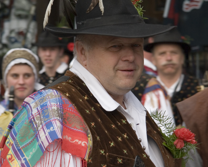 Slovenia, Bled Province, Man At Festival, 2006, IMG_6381