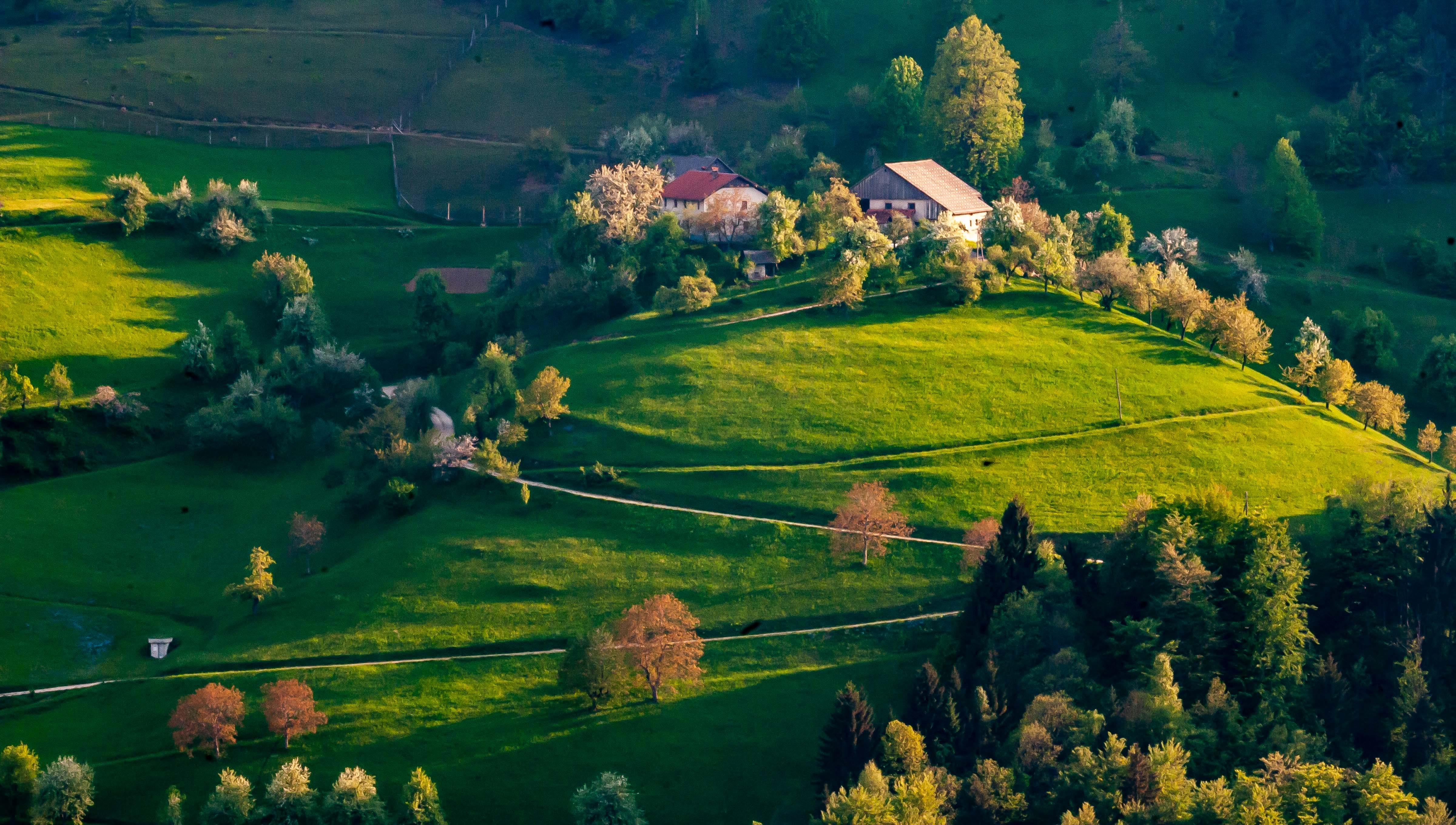 Slovenia, Dobrova-Polhov Gradec Prov, Mountain Village, 2006, IMG 5896