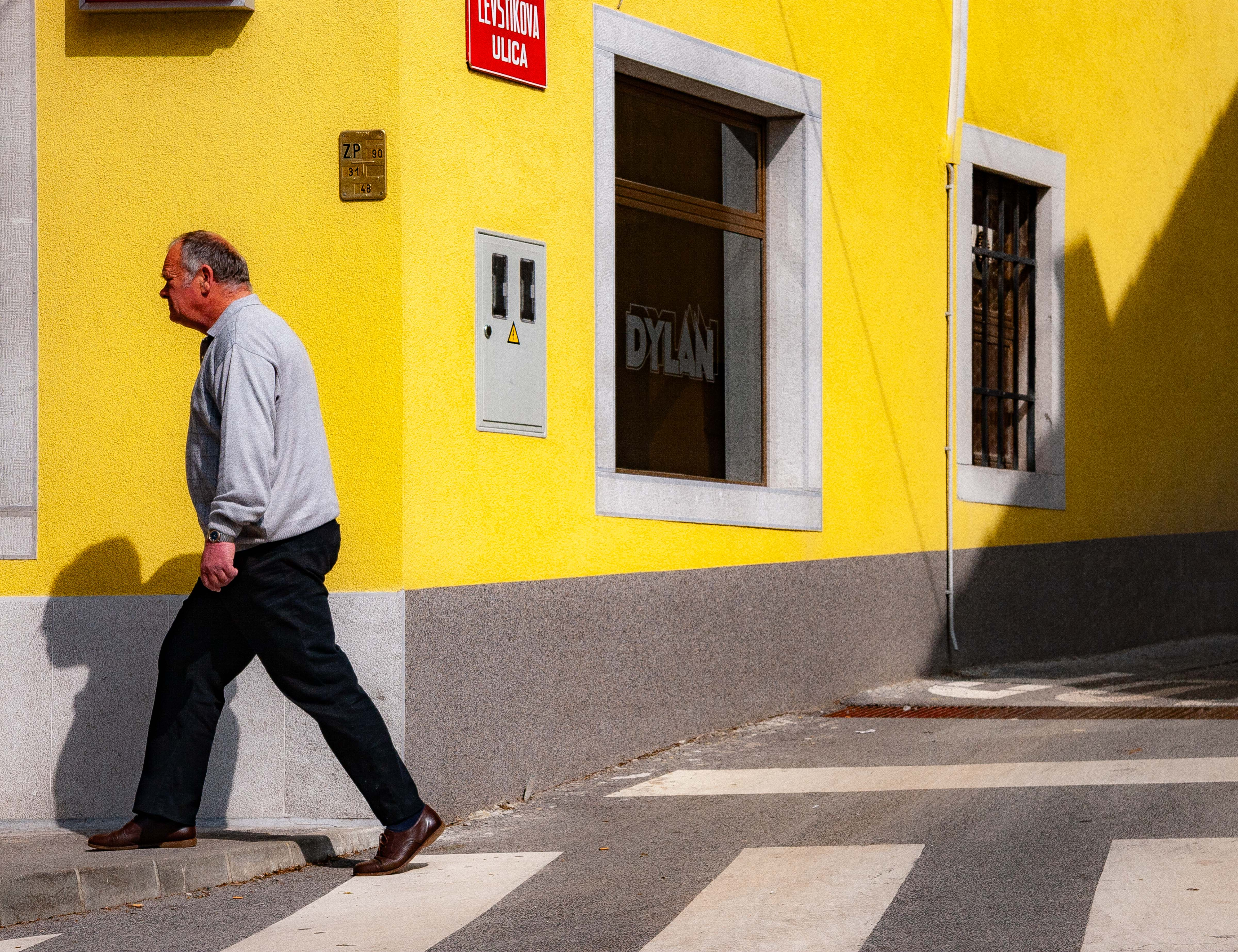 Slovenia, Sezana Prov, Man In Crosswalk, 2006, IMG 6875