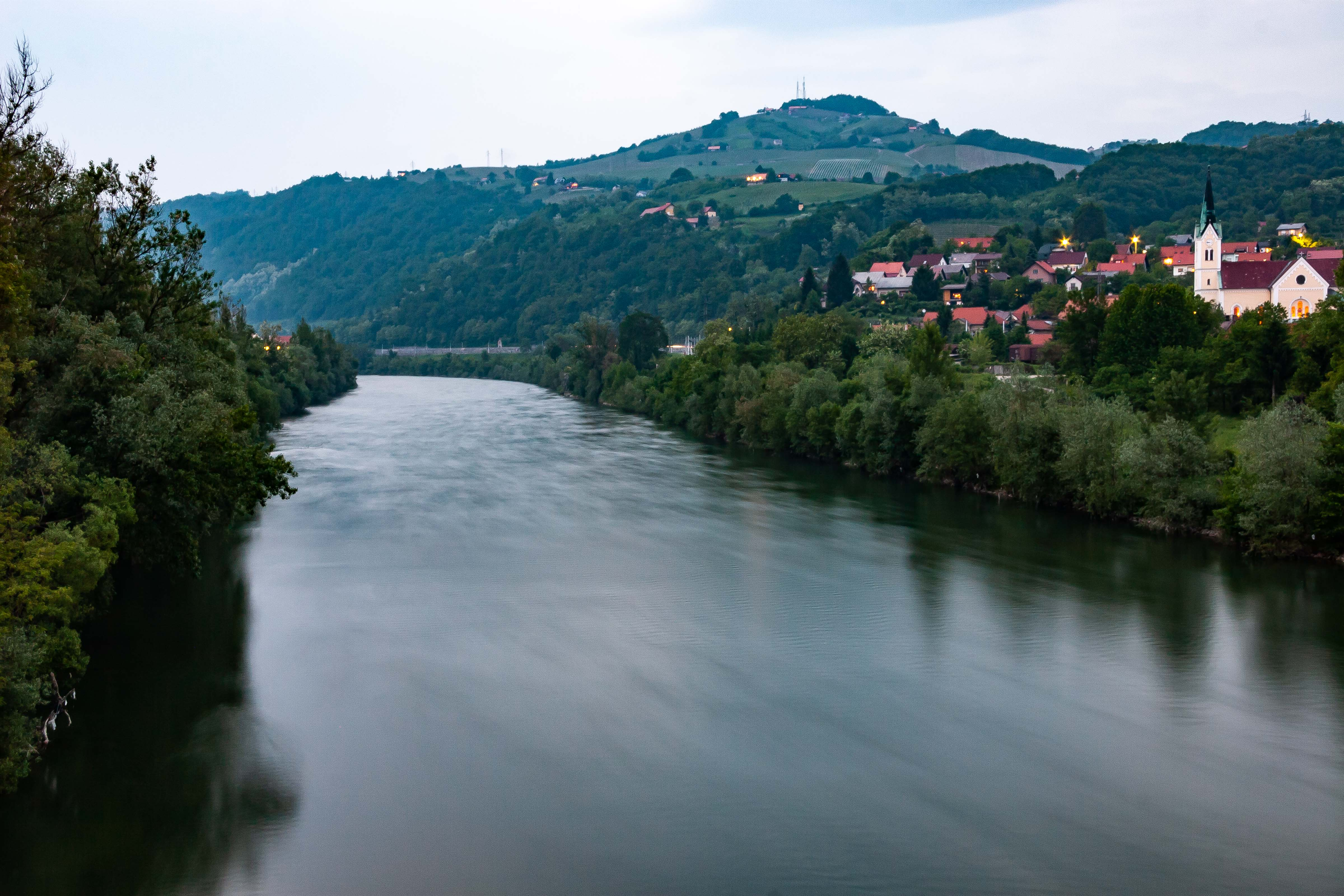 Slovenia, Krsko Prov, River At Dark, 2006, IMG 7672