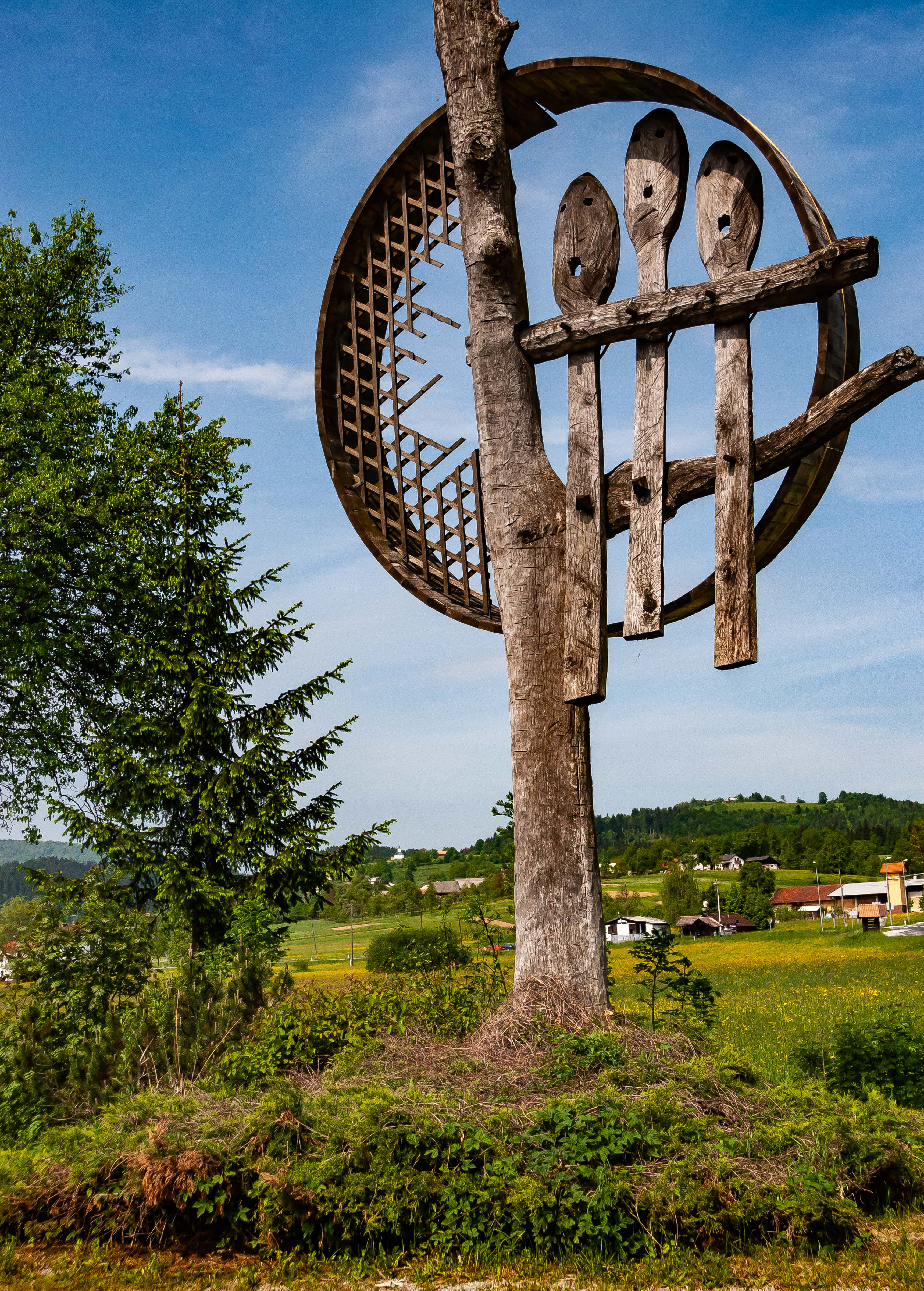 Slovenia, Ribnica Prov, Spoon Sign, 2006, IMG 7189