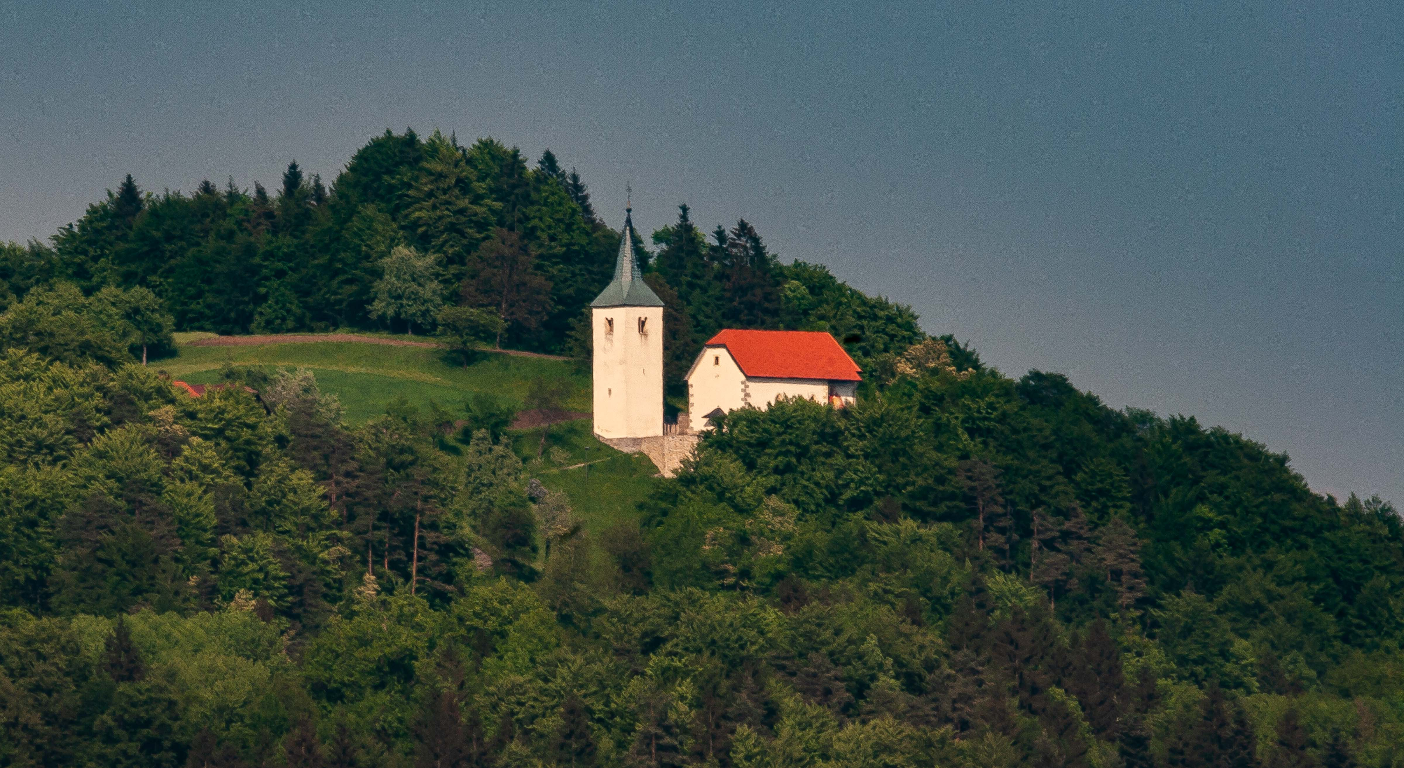 Slovenia, Lukovica Prov, Church On Hill, 2006, IMG 6121