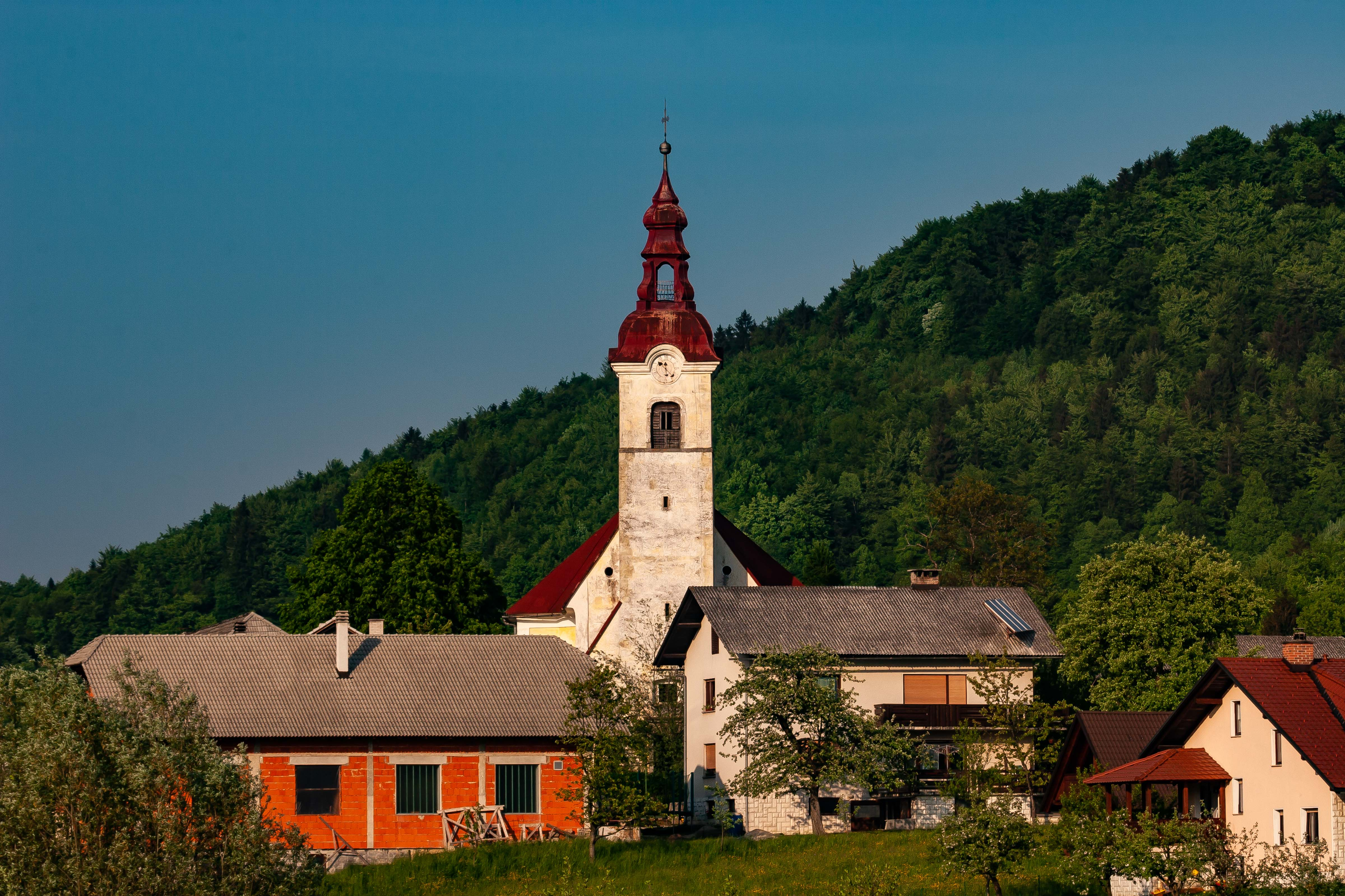 Slovenia, Moravce Prov, Village And Church, 2006, IMG 6159