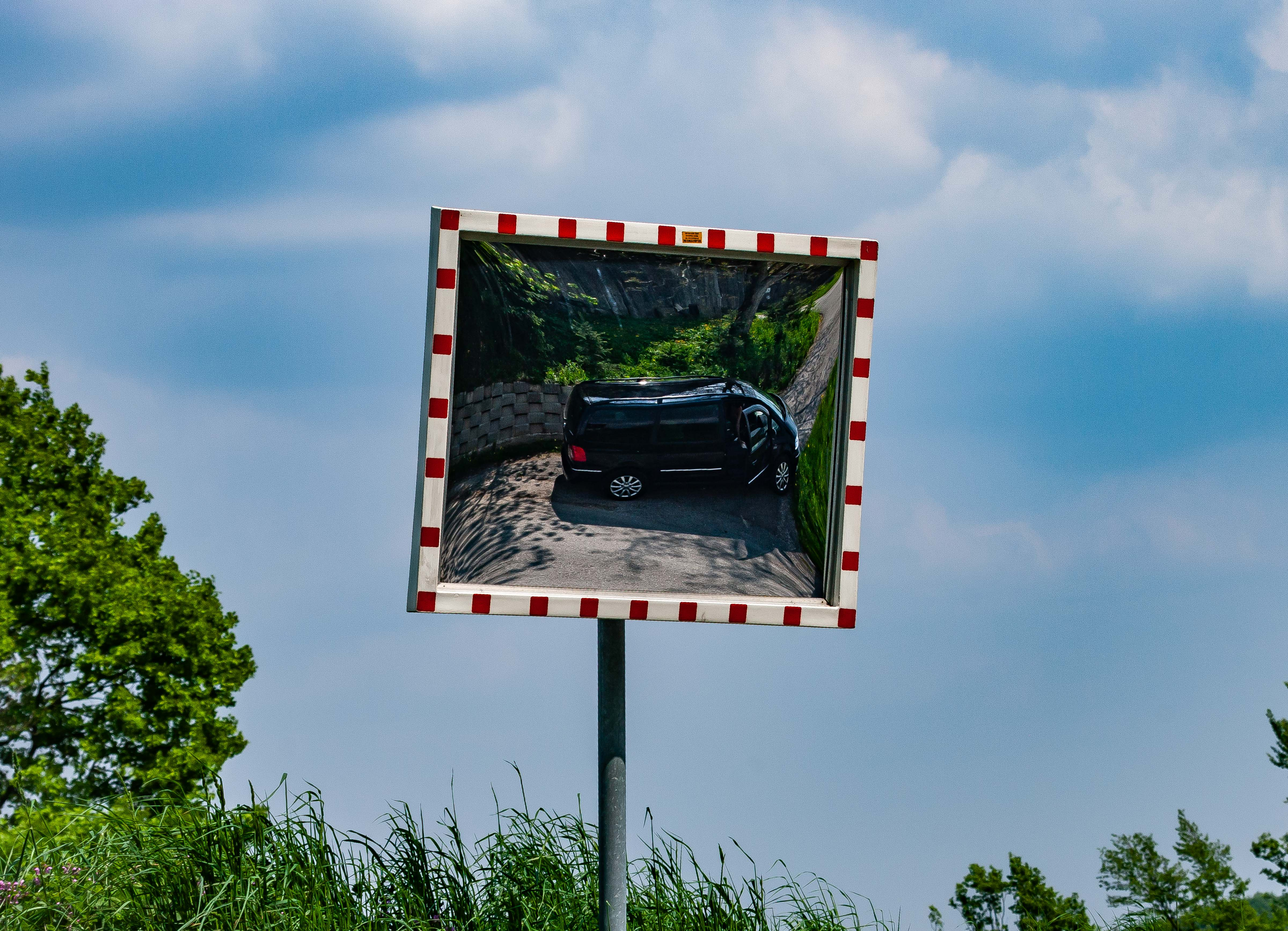 Slovenia, Sentilj Prov, Car In Mirror, 2006, IMG 4778