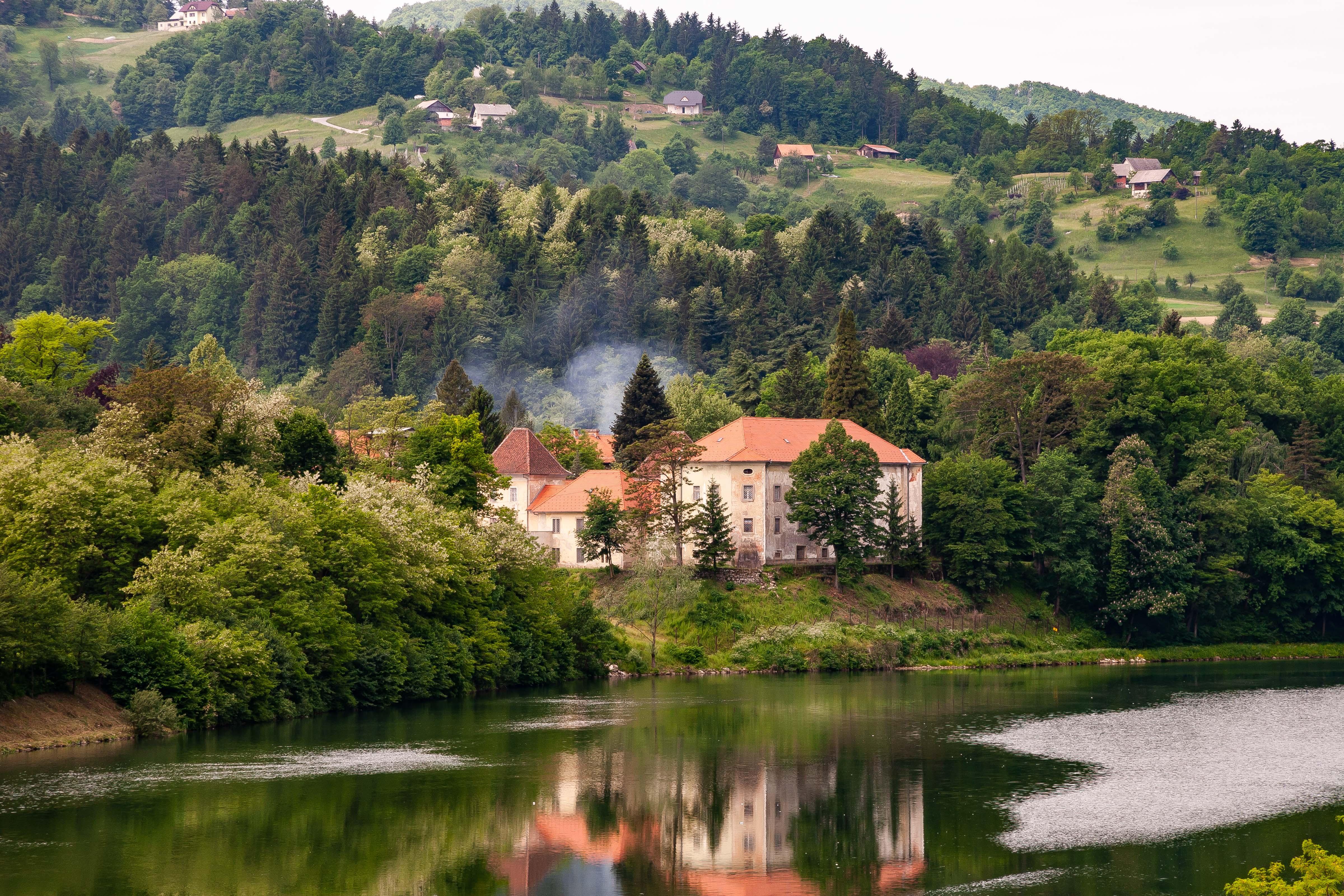 Slovenia, Sevnica Prov, House By River, 2006, IMG 7692