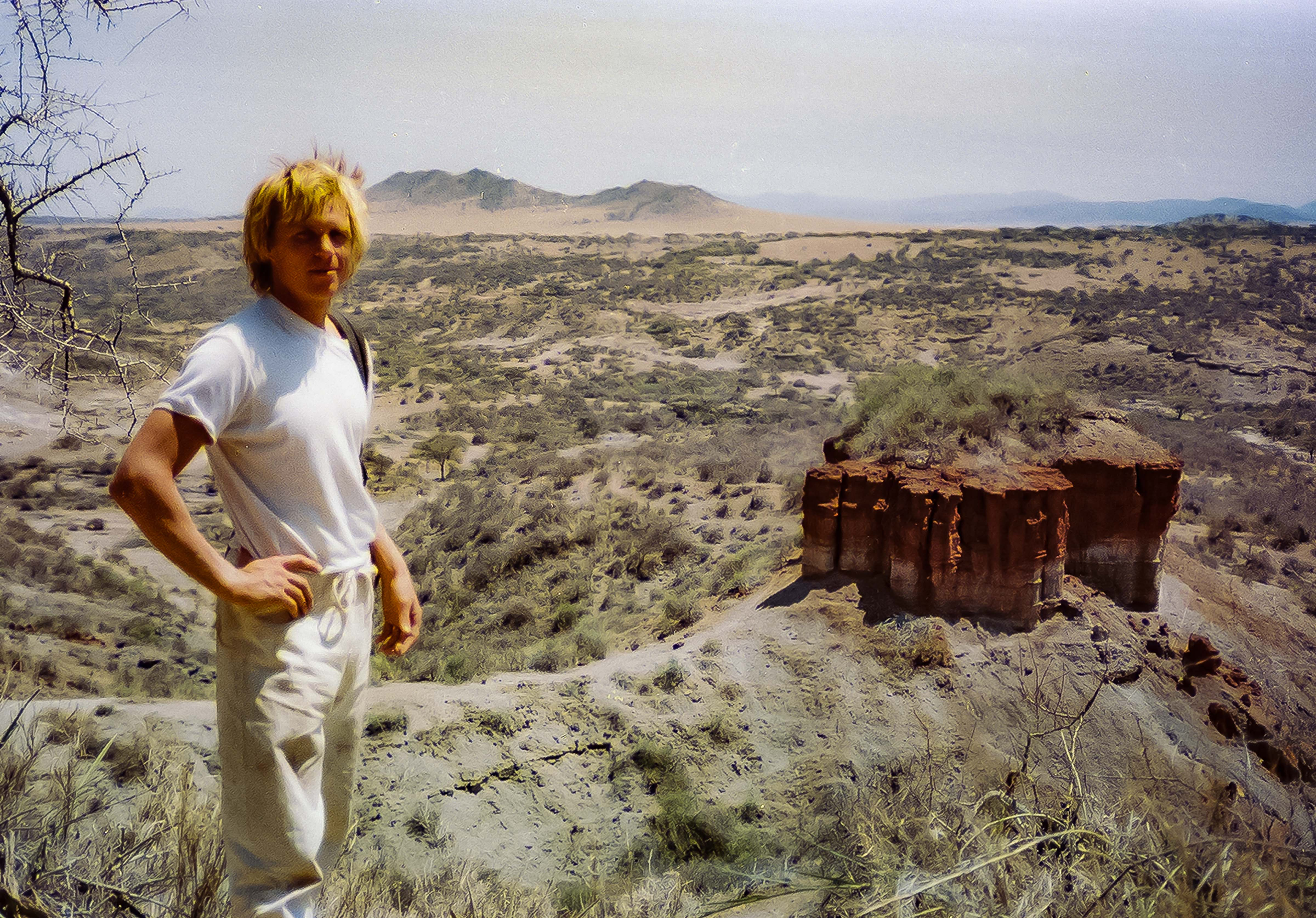 Tanzania, Jeff Shea At Olduvai Gorge, 1984