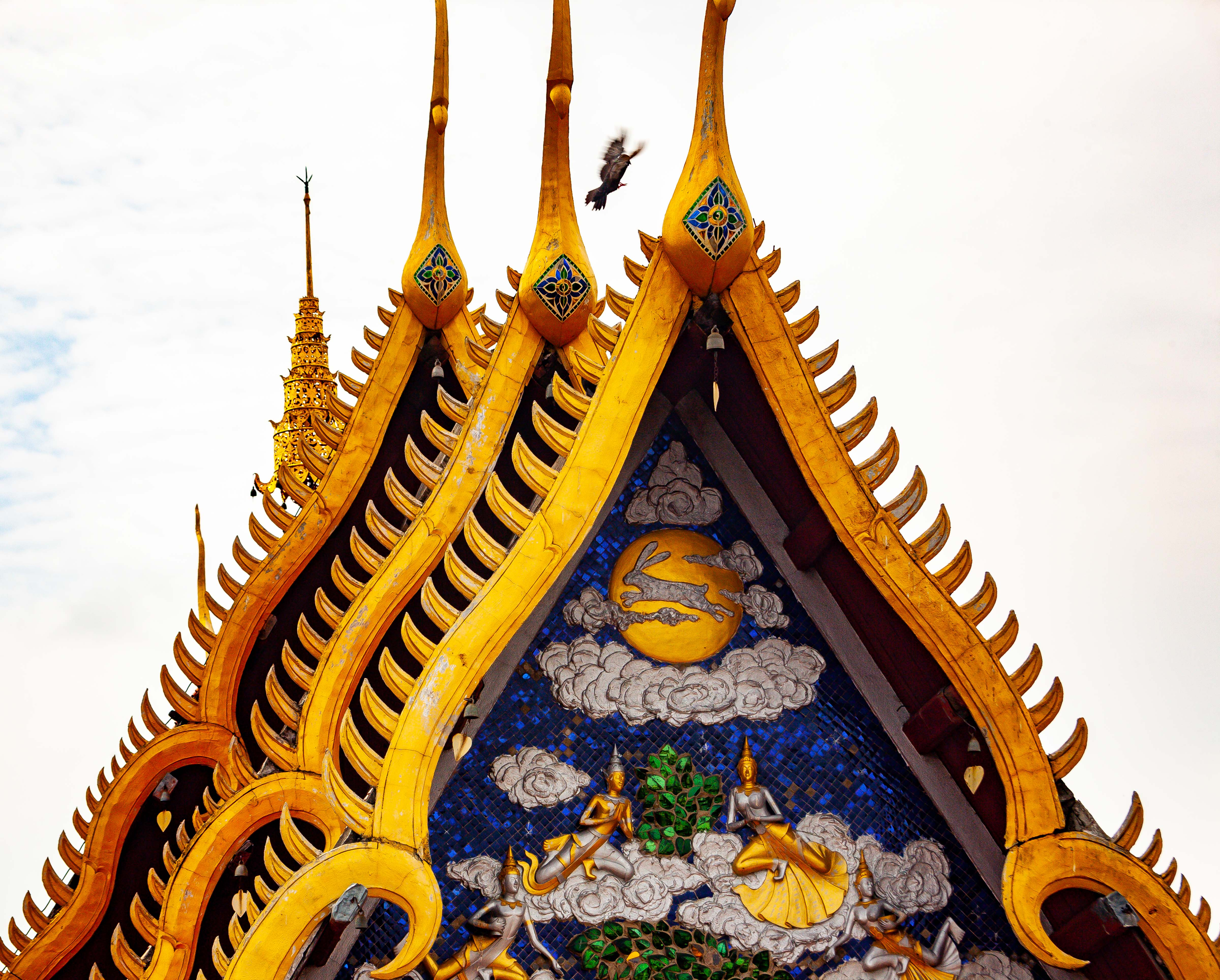 Thailand, Lampang Prov, Temple Tops, 2008, IMG 4041
