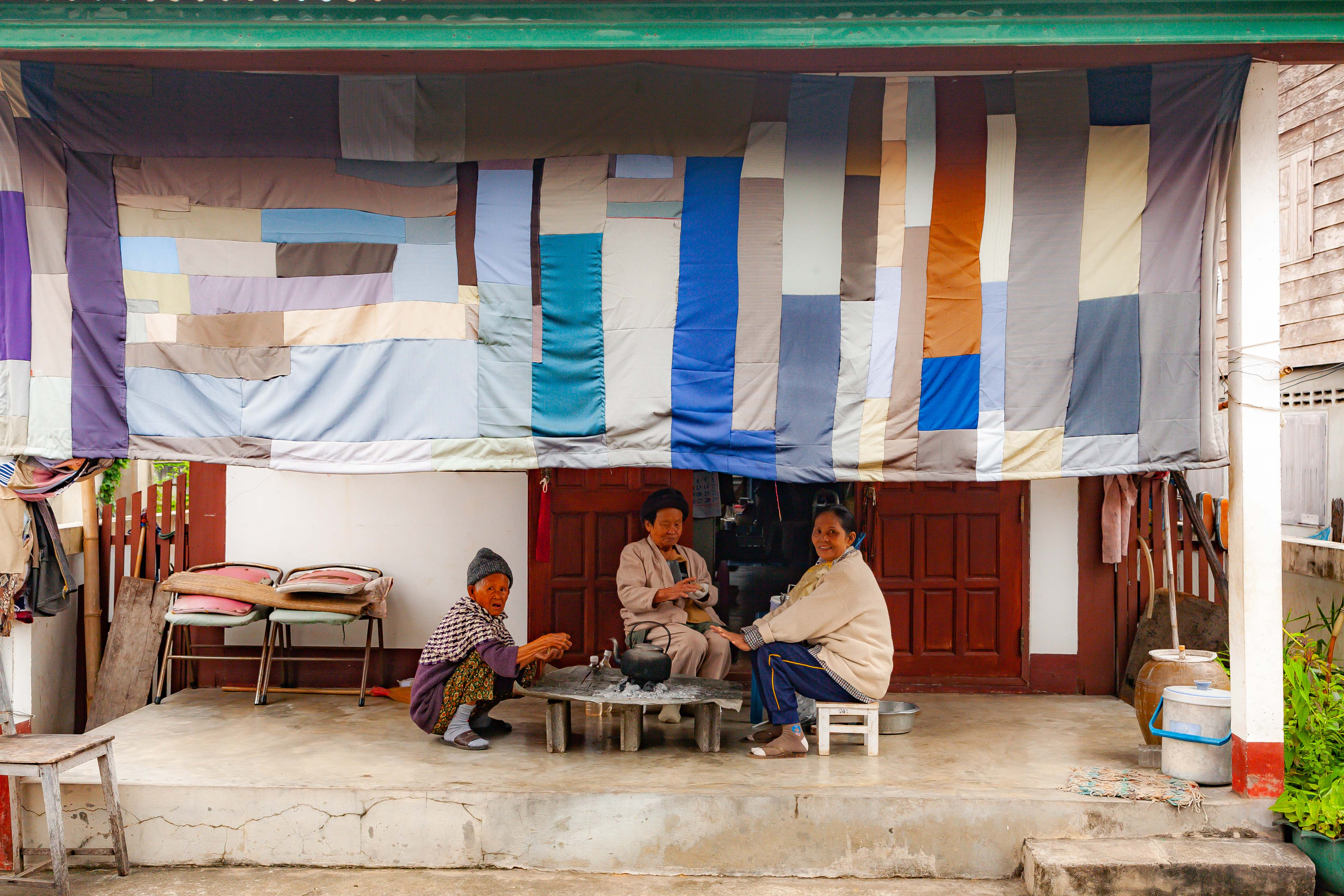 Thailand, Loei Prov, Colorful Awning, 2008, IMG 6437