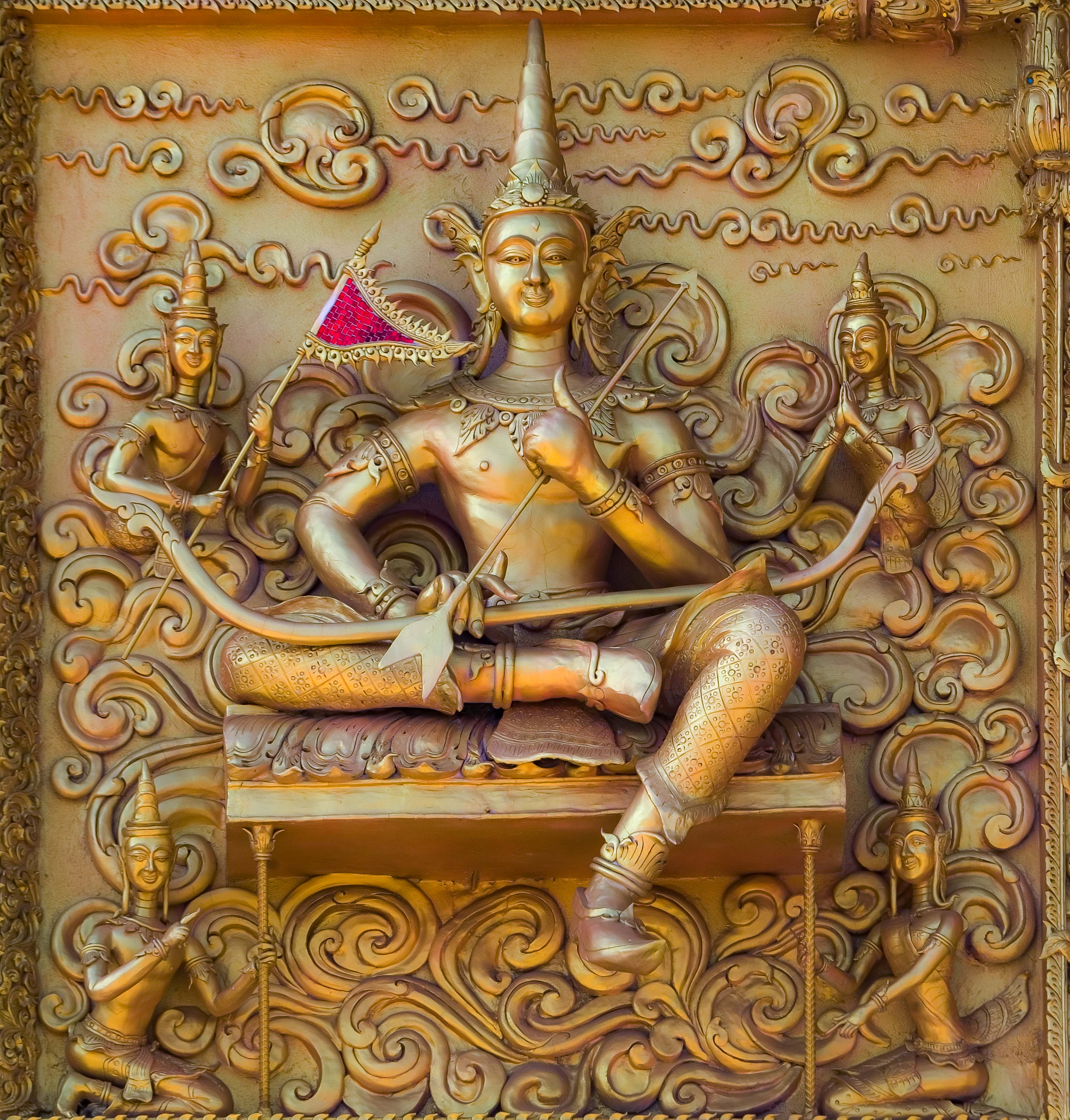 Thailand, Nan Prov, Temple Relief, 2008, IMG 6583