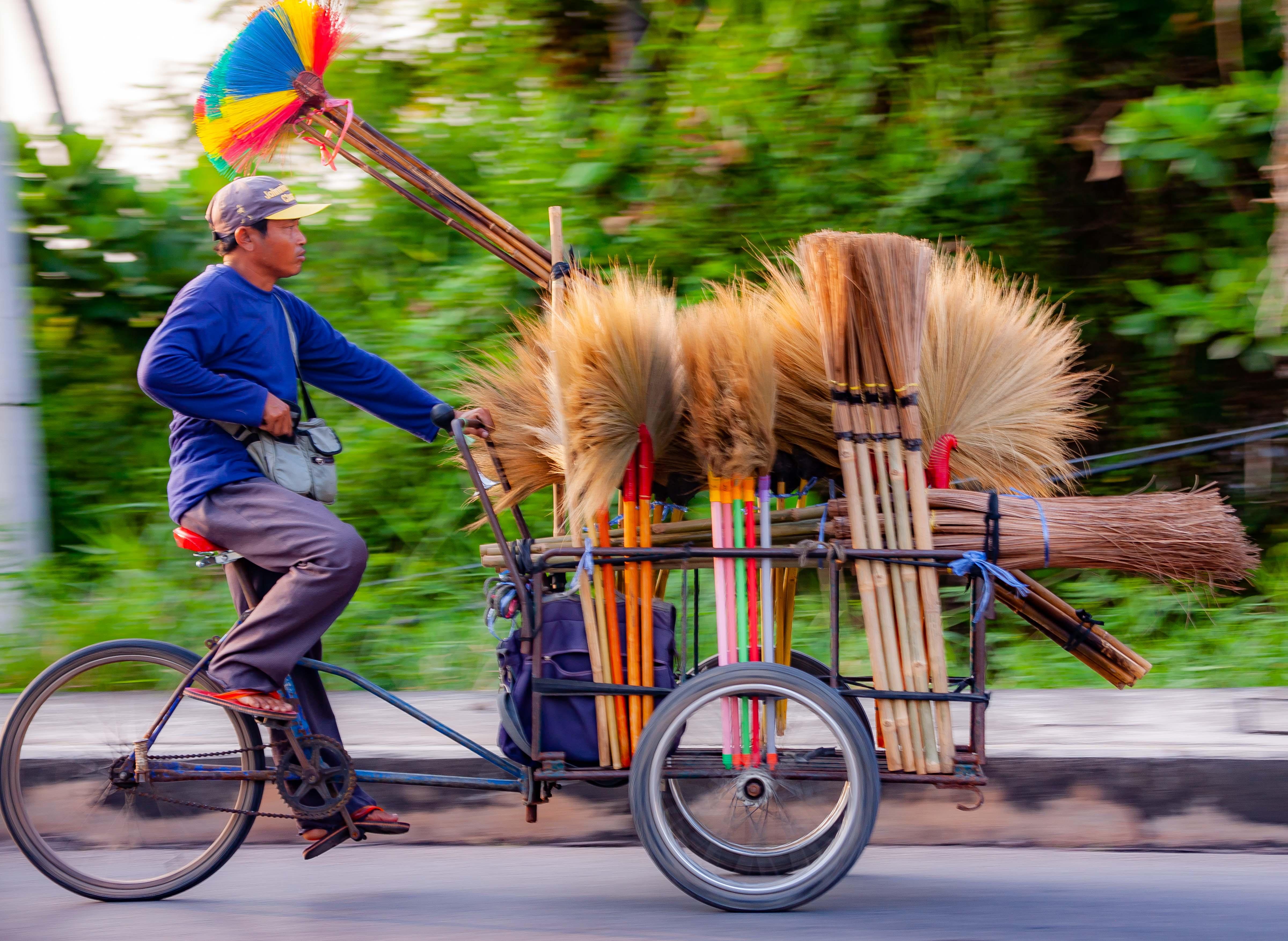 Thailand, Samut Songkhram Prov, Broom Cart, 2008, IMG 1312