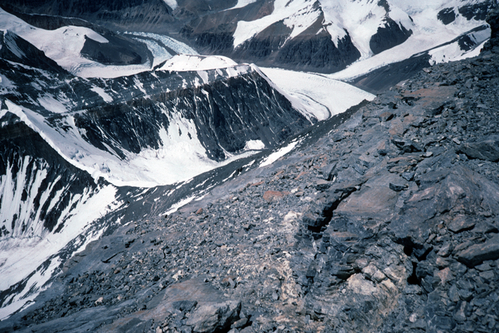 Tibet, Everest, North Ridge, North Col From 8000 meters,1995