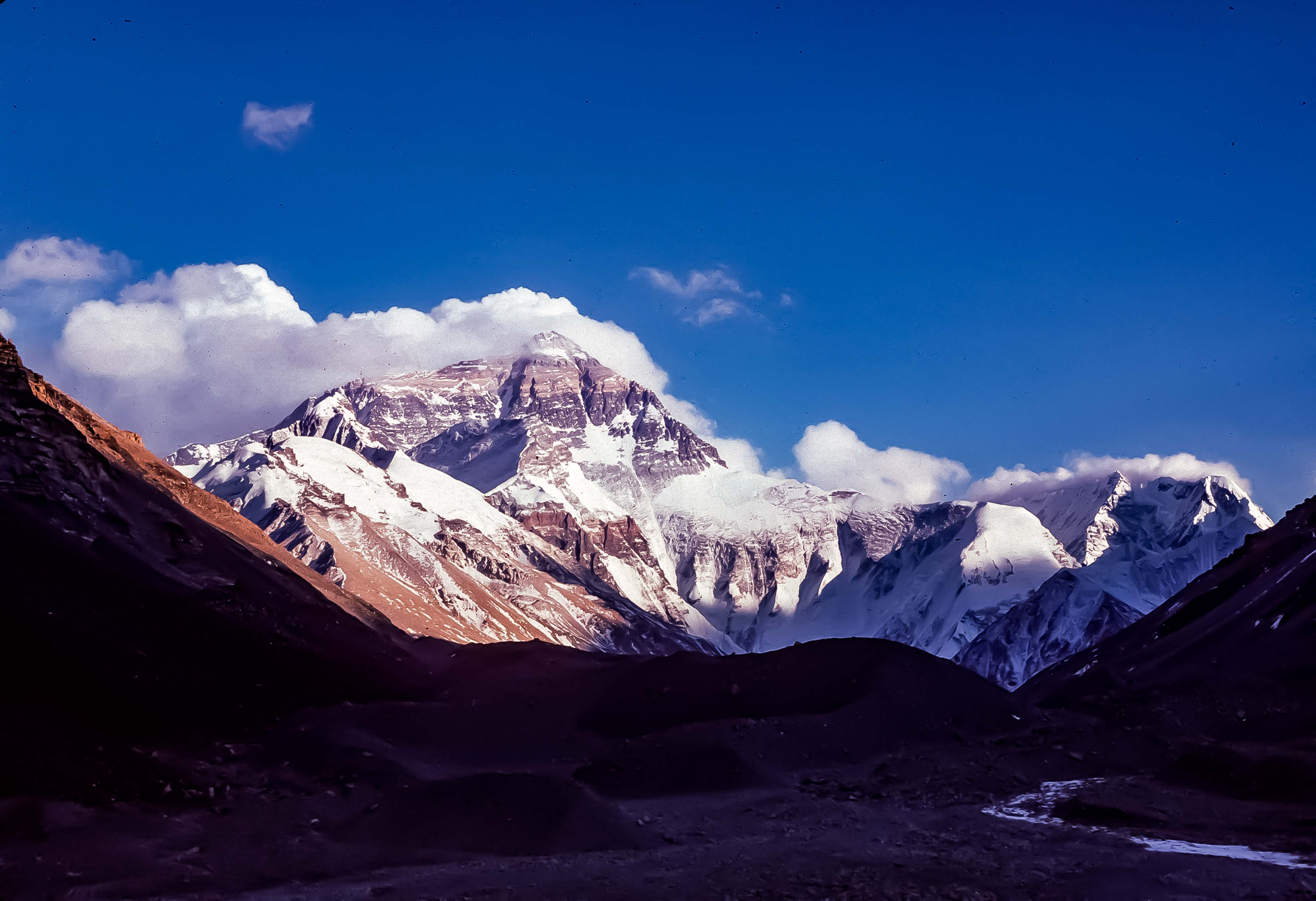 Tibet, Everest, View From Base Camp, North East Ridge And West Ridge,1995