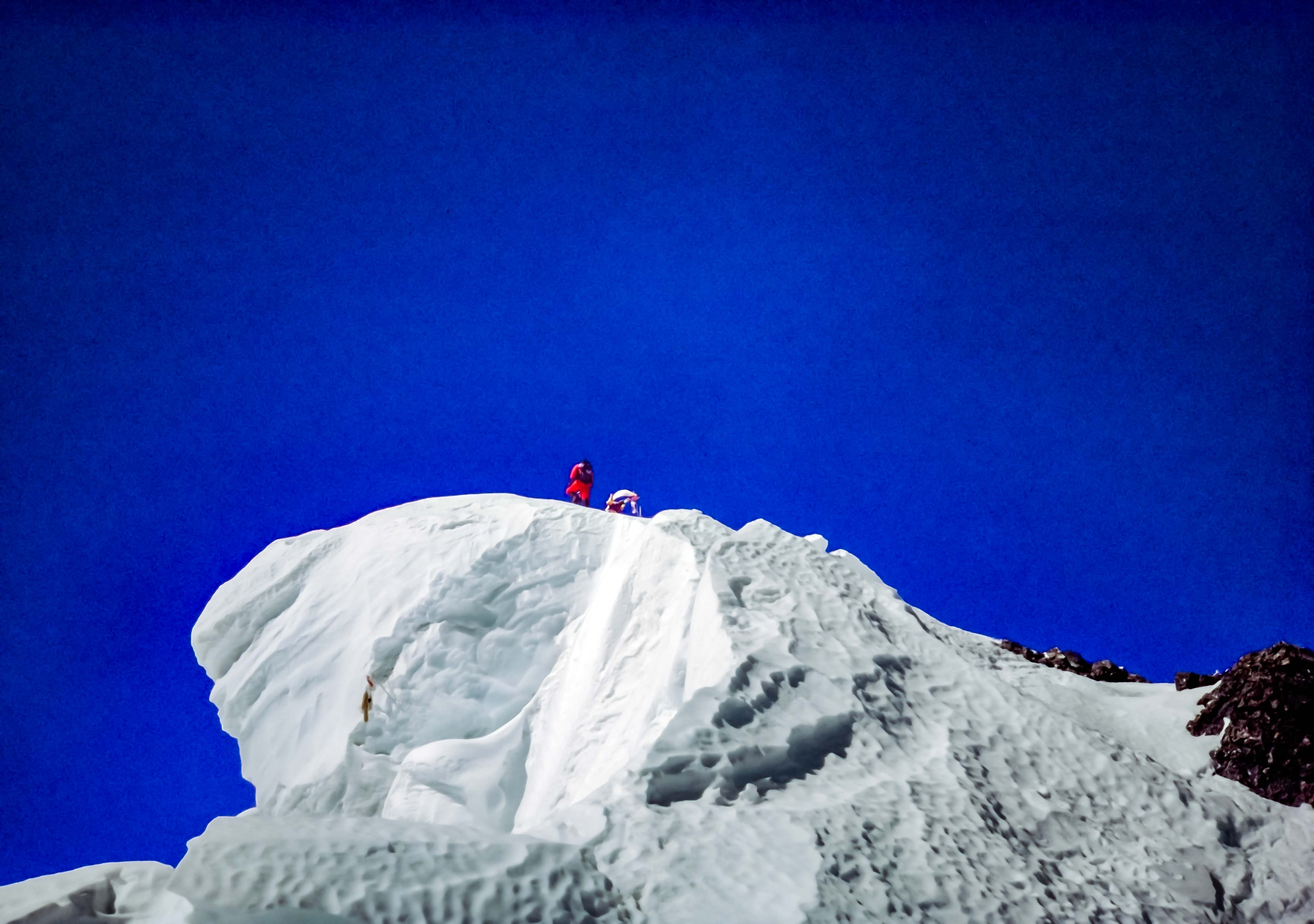 Tibet, Everest Summit, Lhakpa Gelu, Cornice Taken At 8830m, 1995