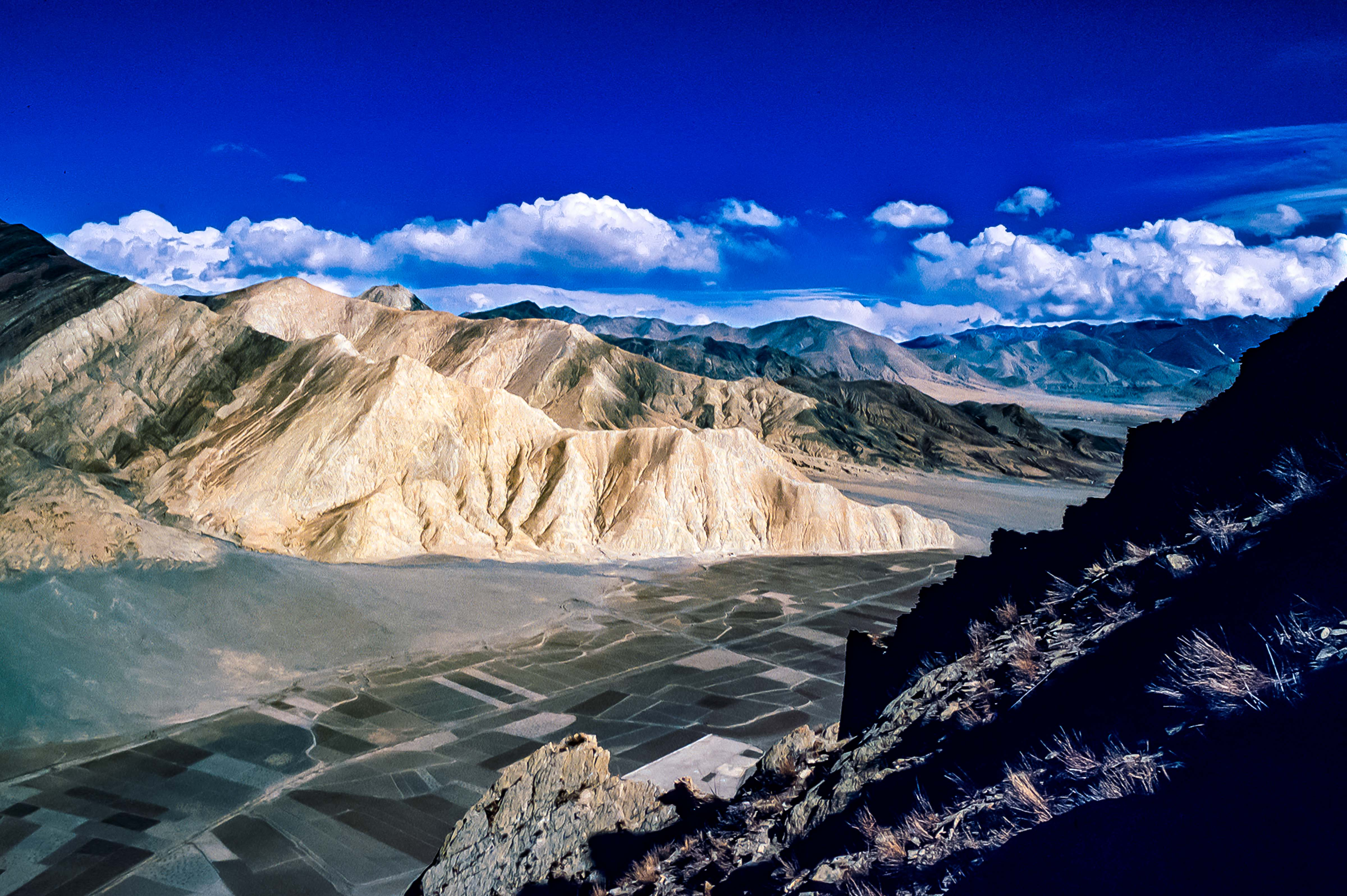 Tibet, Xegar, View Of Valley From Top Of Hill, 1995