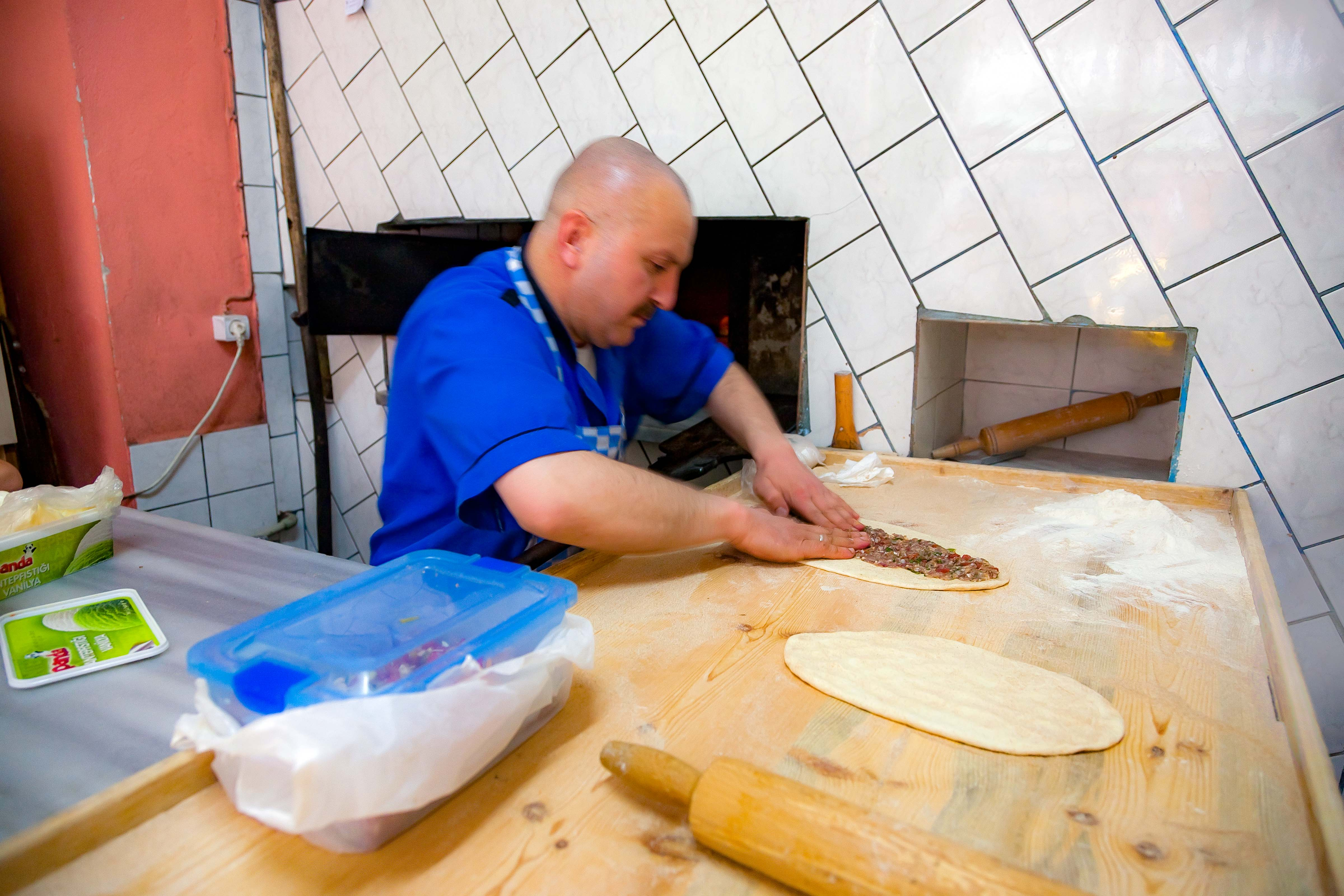 Turkey, Bayburt Prov, Pide Maker, 2010, IMG 7331