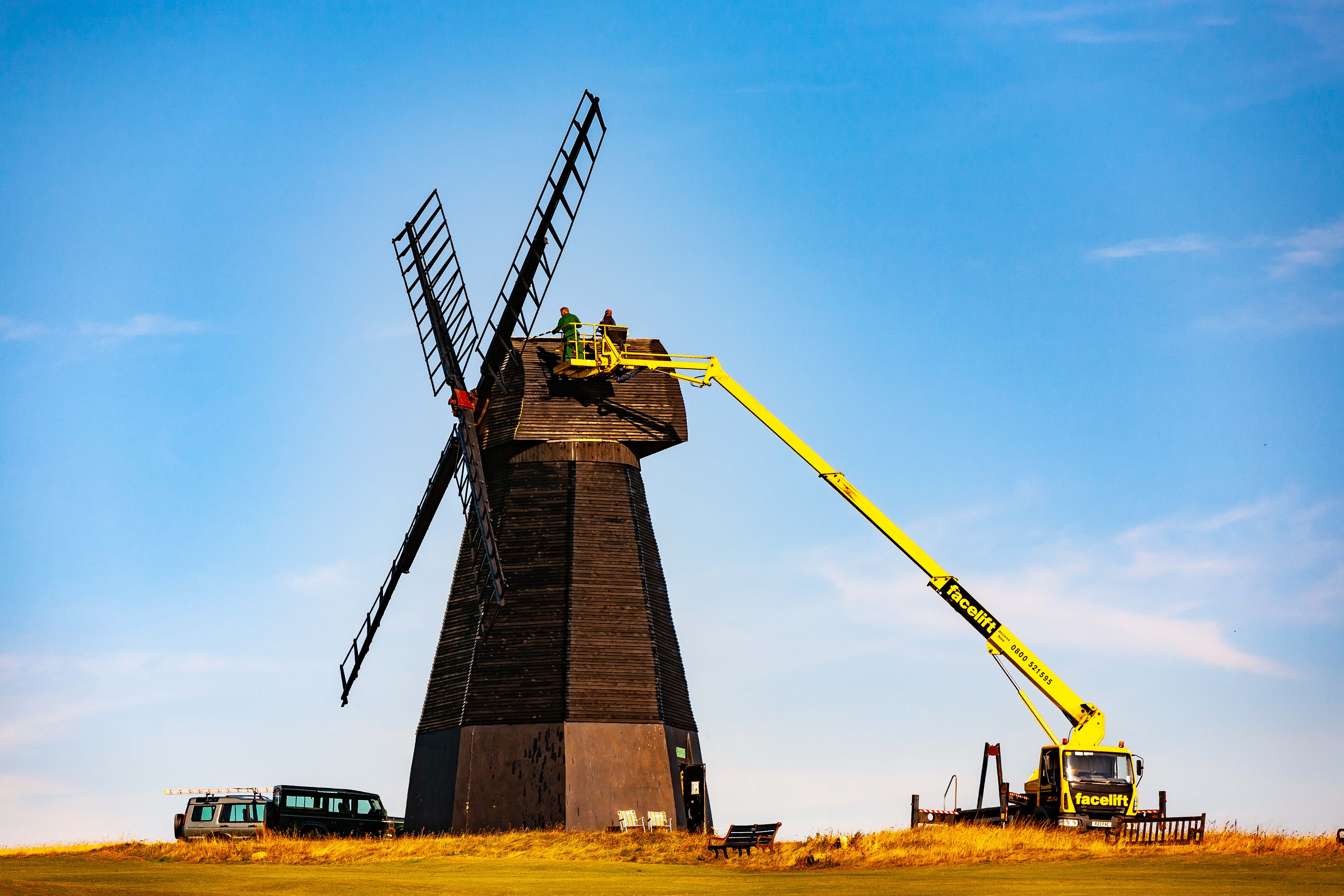 UK, Brighton And Hove Prov, Windmill Repair, 2009, IMG 3855